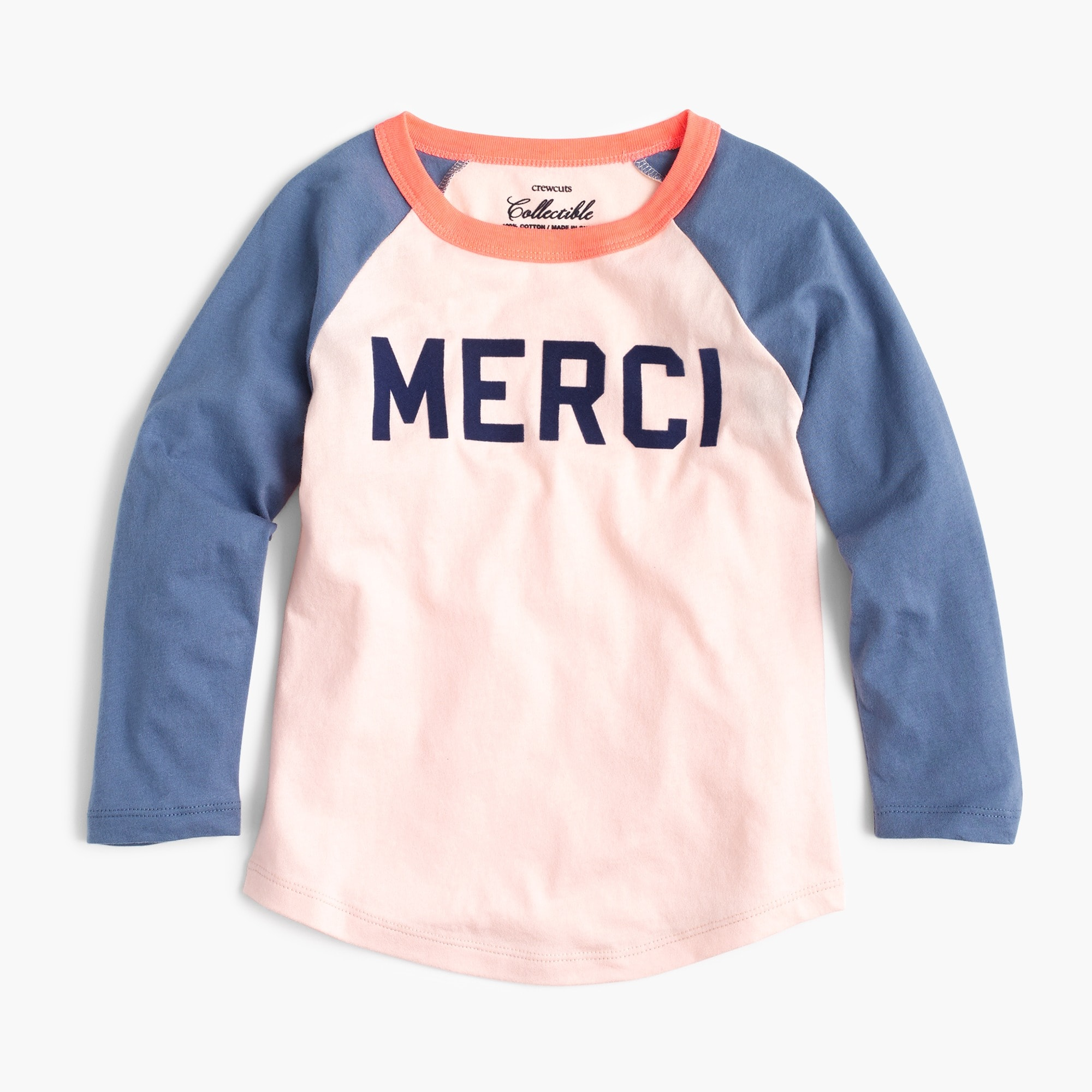"Girls' ""merci"" T-shirt"