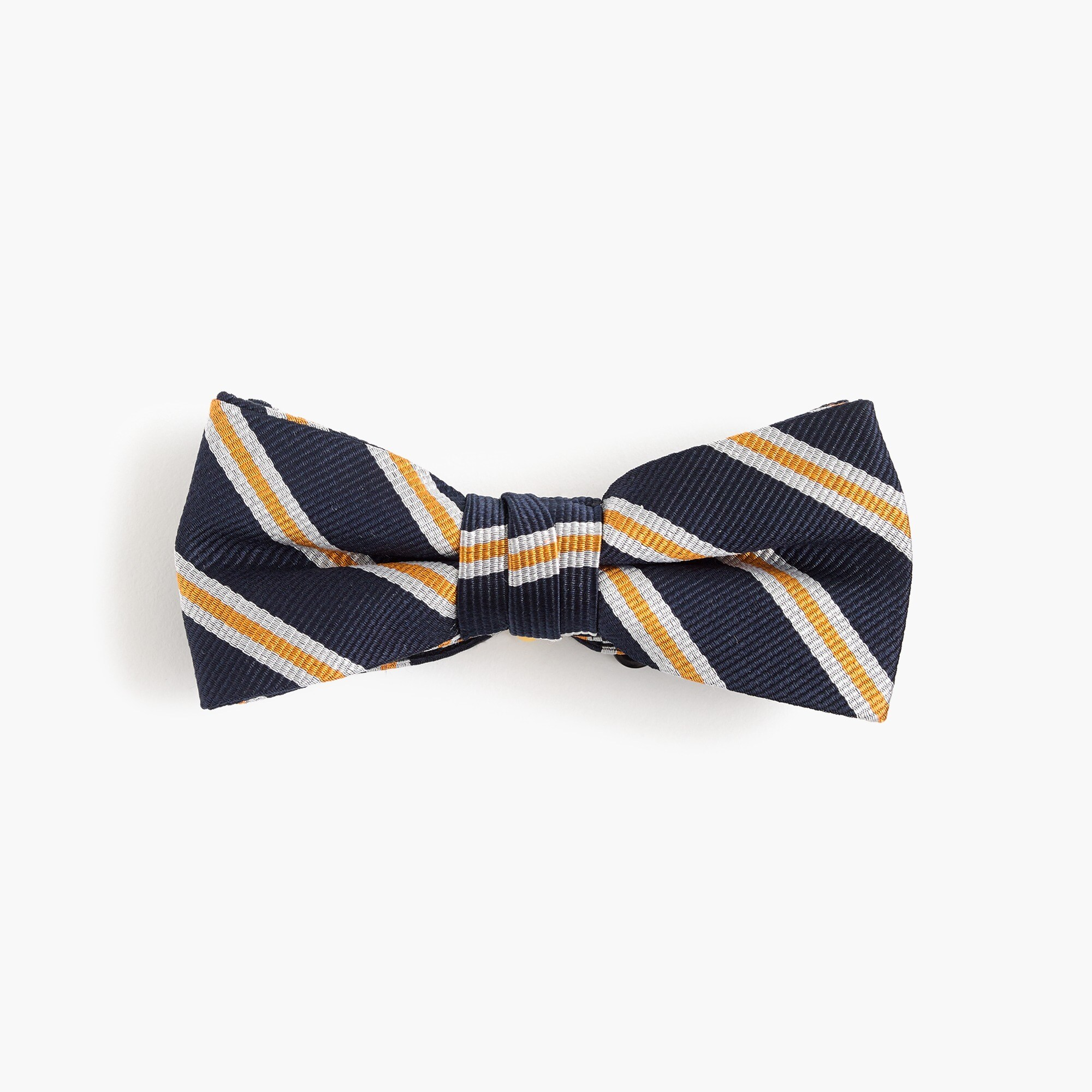 boys' silk bow tie in stripe : boy bow ties