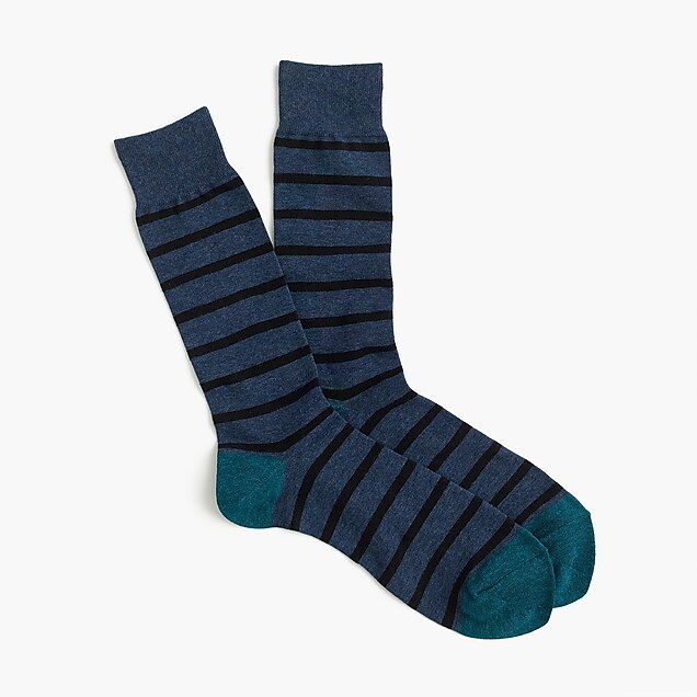 Narrow striped socks