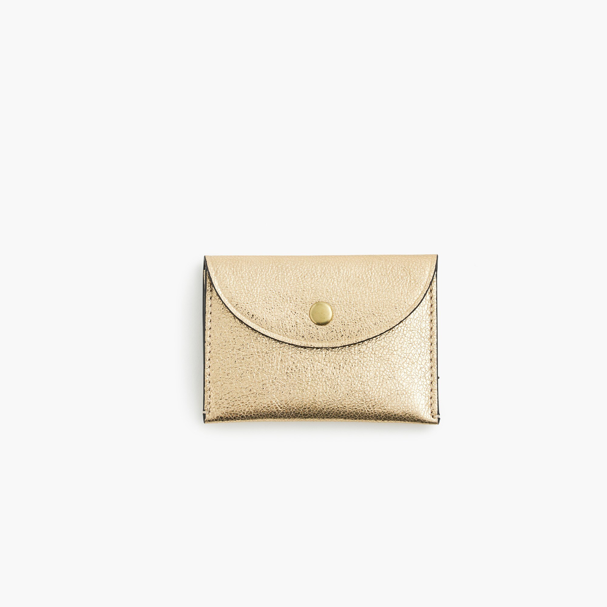Image 1 for Coin purse in metallic Italian leather
