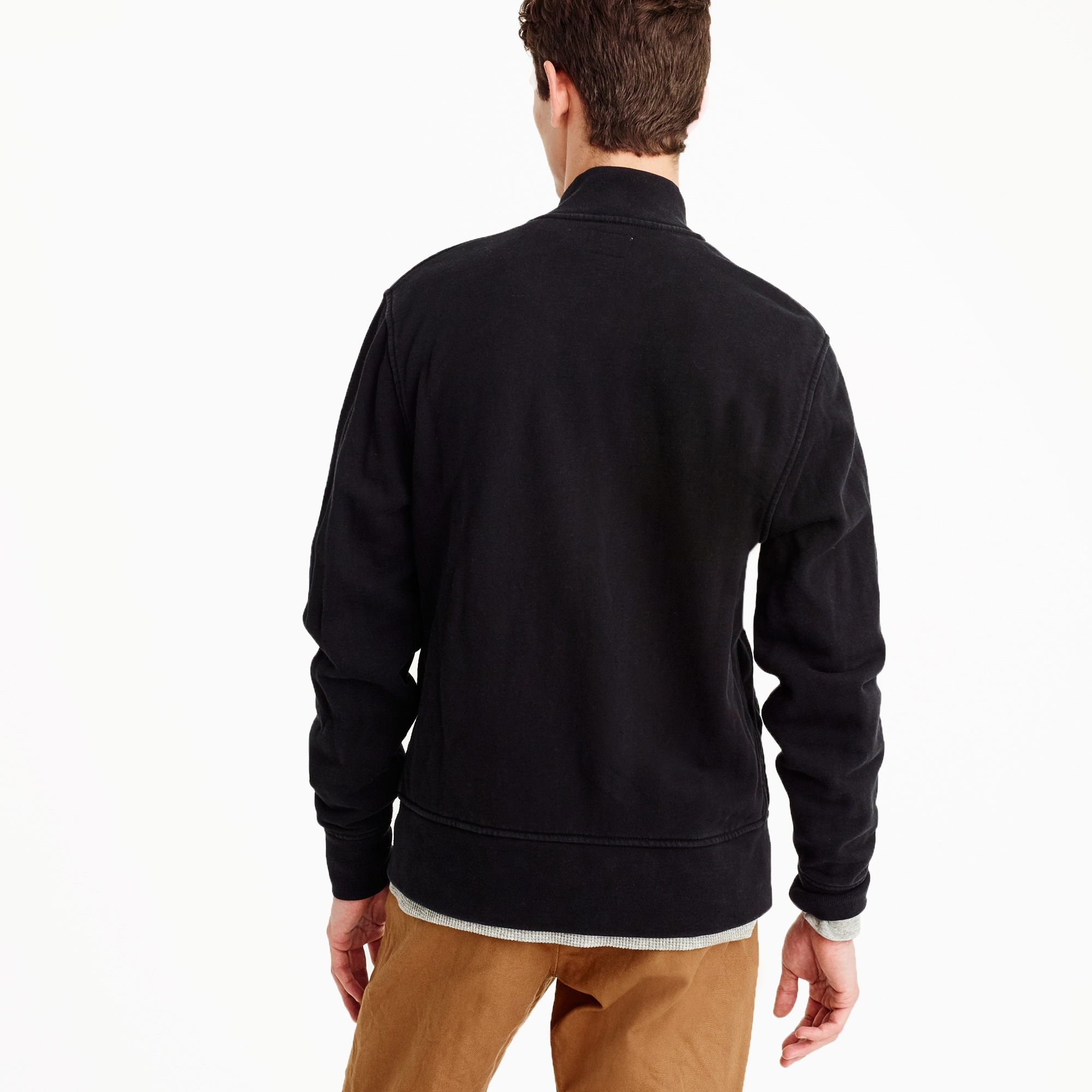 Image 3 for Tall french terry bomber jacket