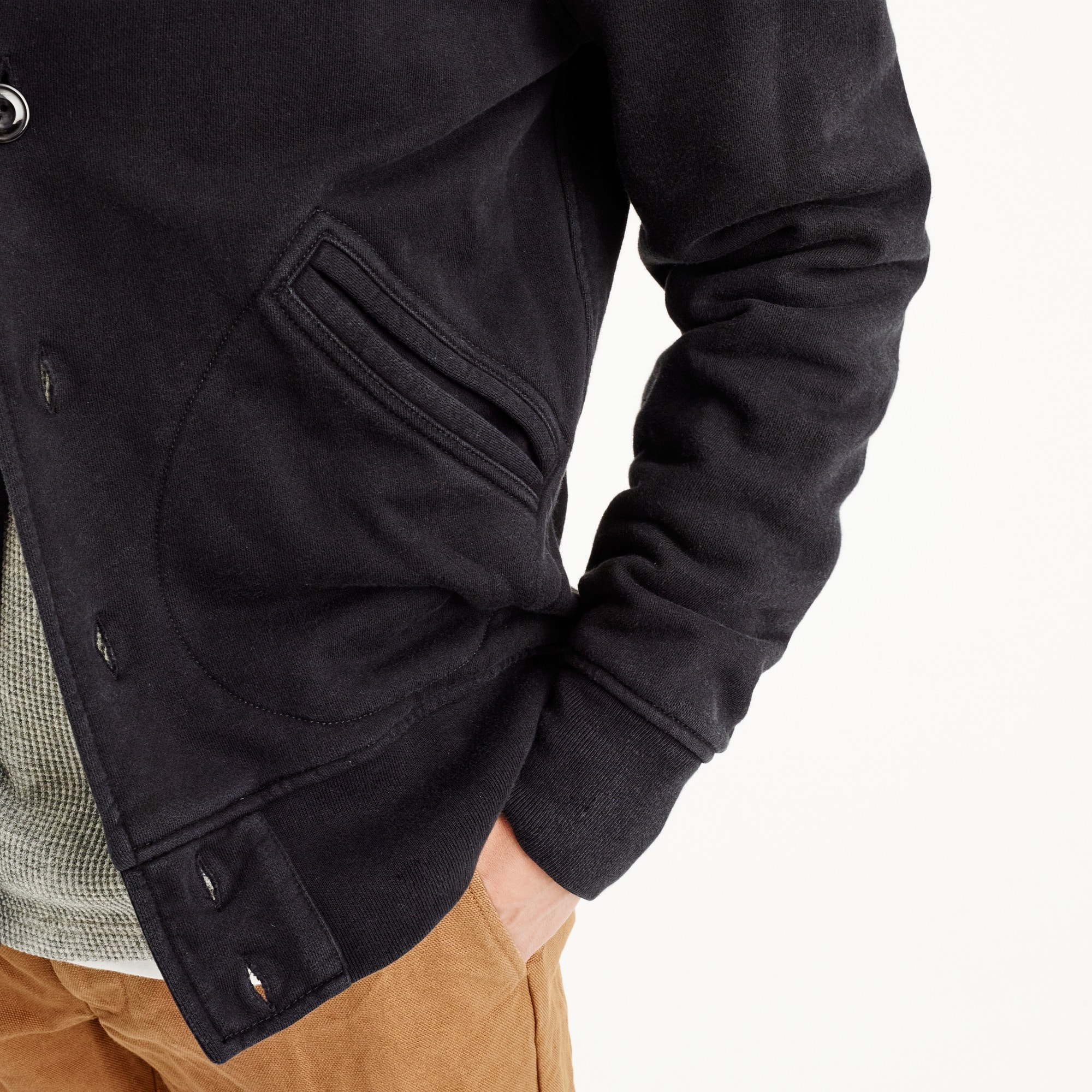 Tall french terry bomber jacket