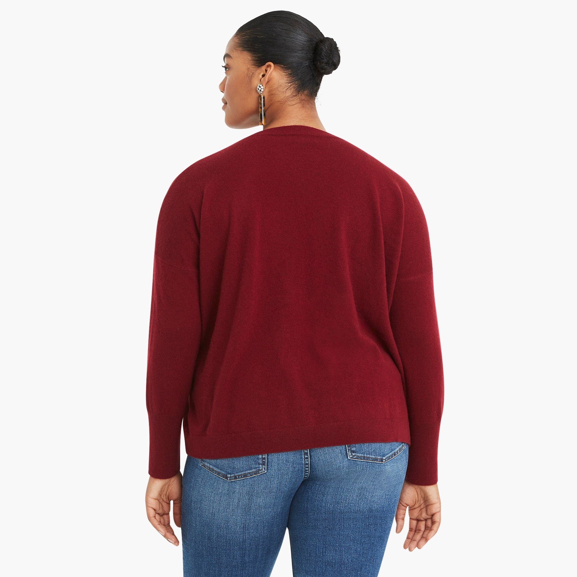 Image 5 for V-neck Boyfriend sweater in everyday cashmere