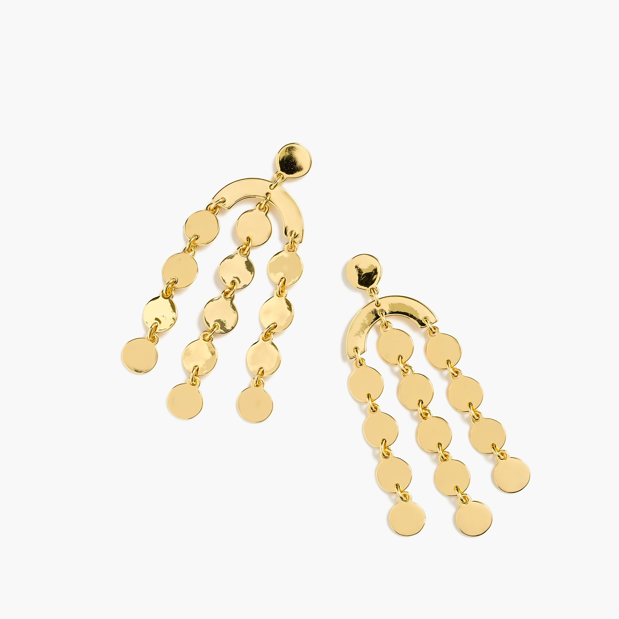 Cascading disc earrings
