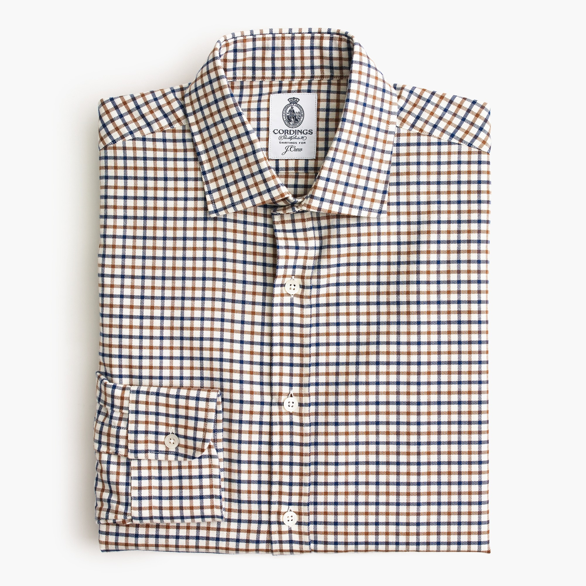 men's cordings™ for j.crew shirt in rye tattersall - men's shirts