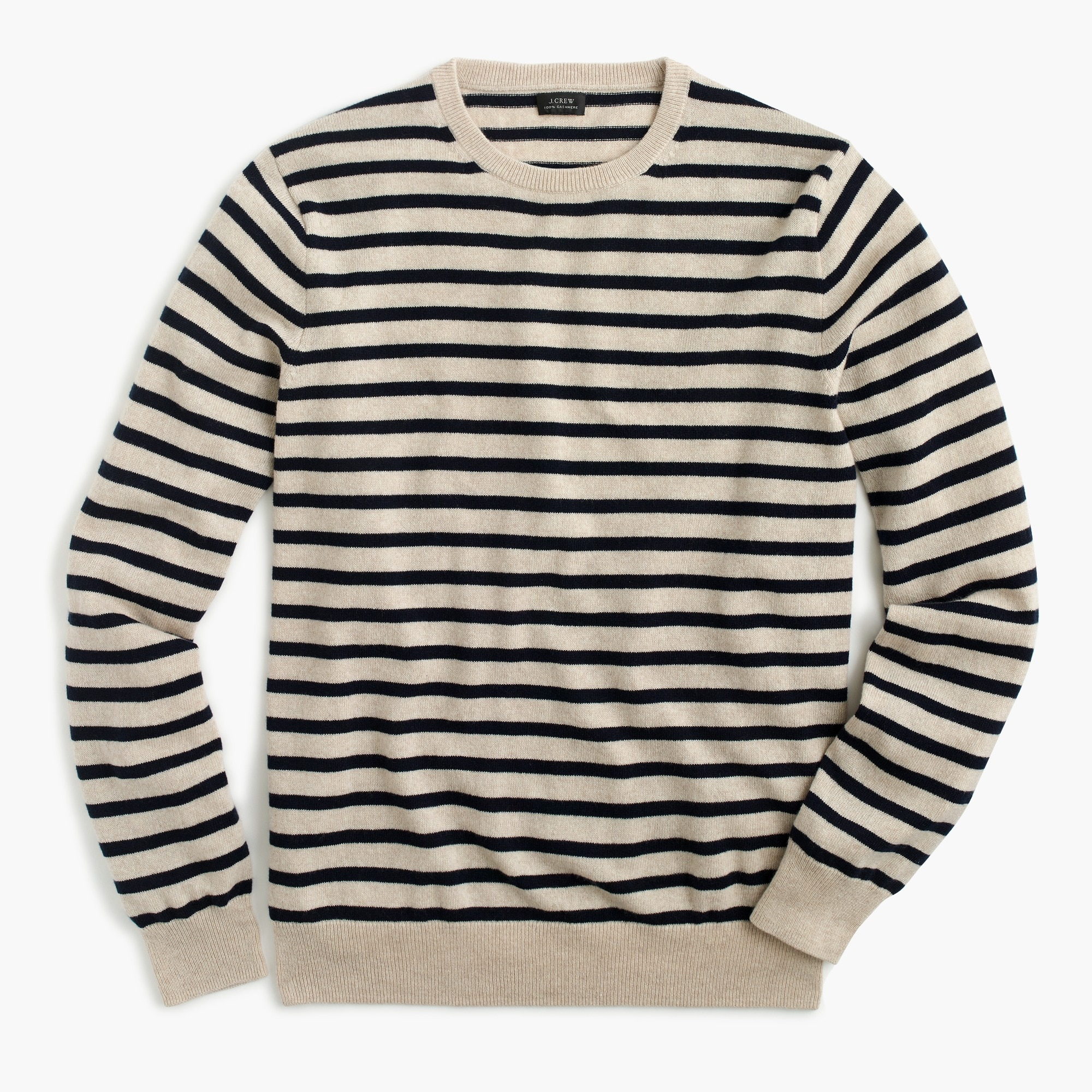 Image 2 for Everyday cashmere crewneck sweater in stripe