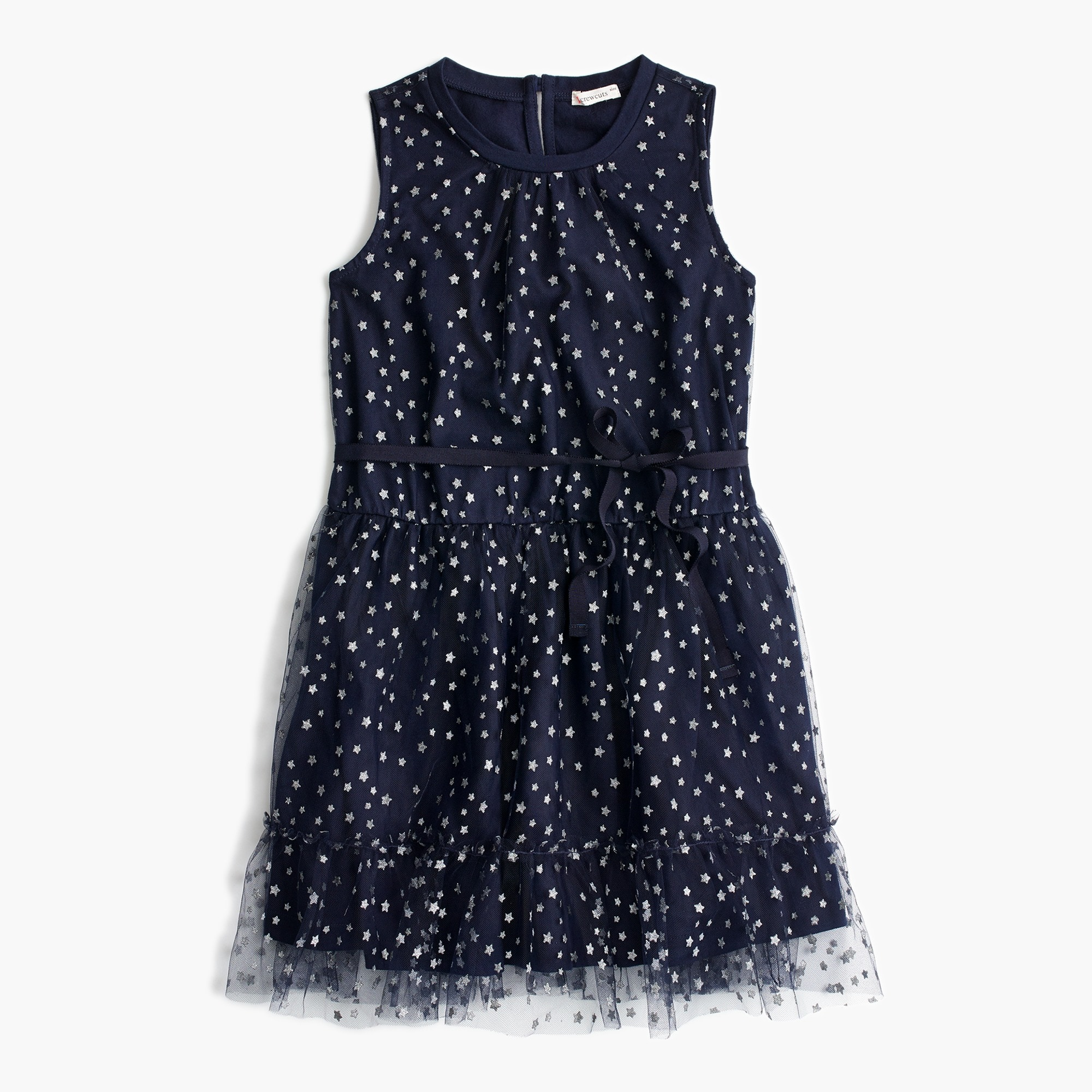 Girls' tulle dress in star print
