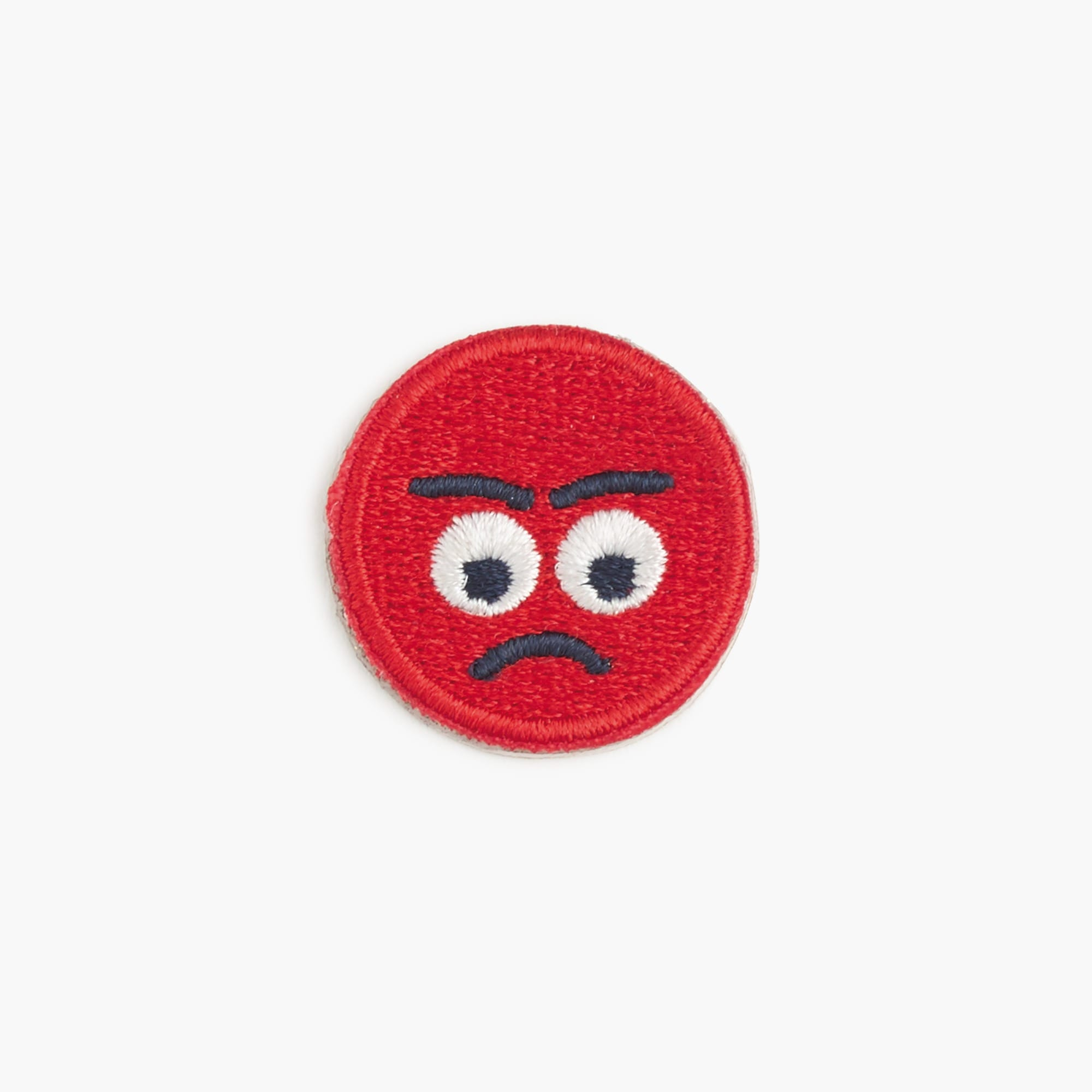girls' mad emoji face iron-on critter patch : girl jewelry & accessories