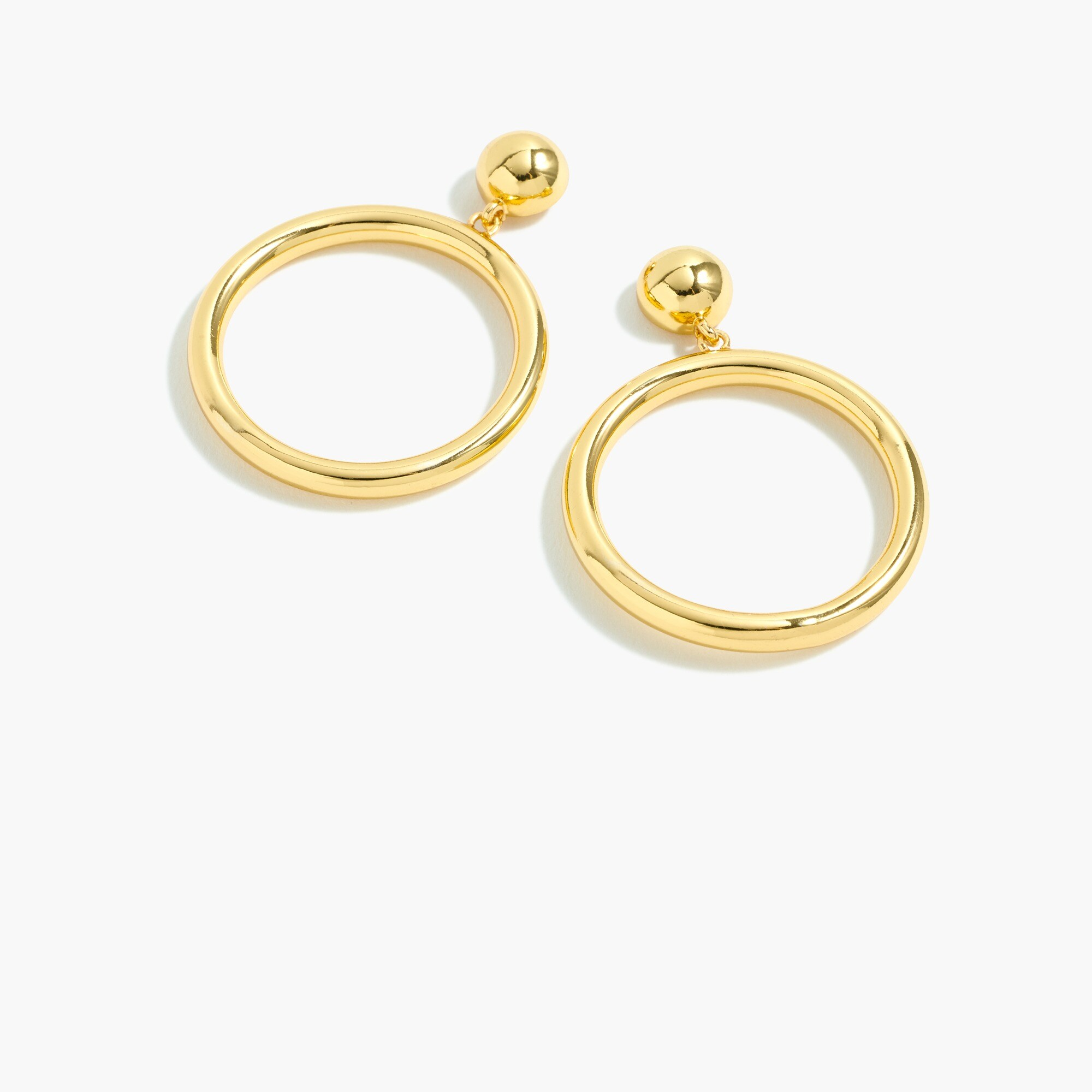 Image 1 for Gold circle earrings