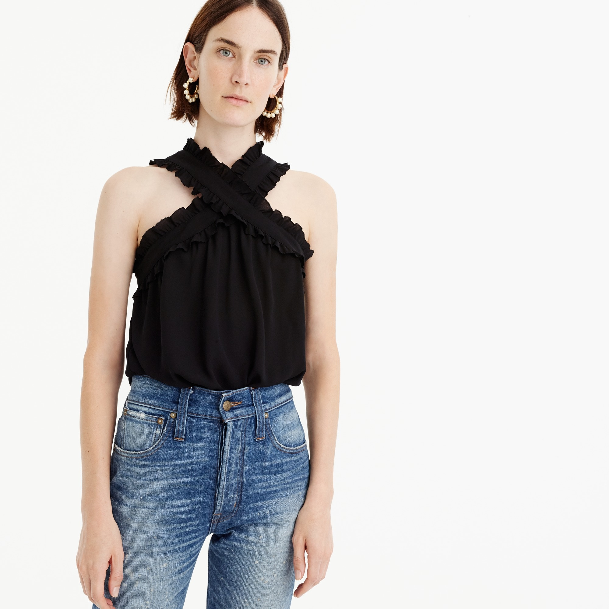 Tall Drapey wrap-front top