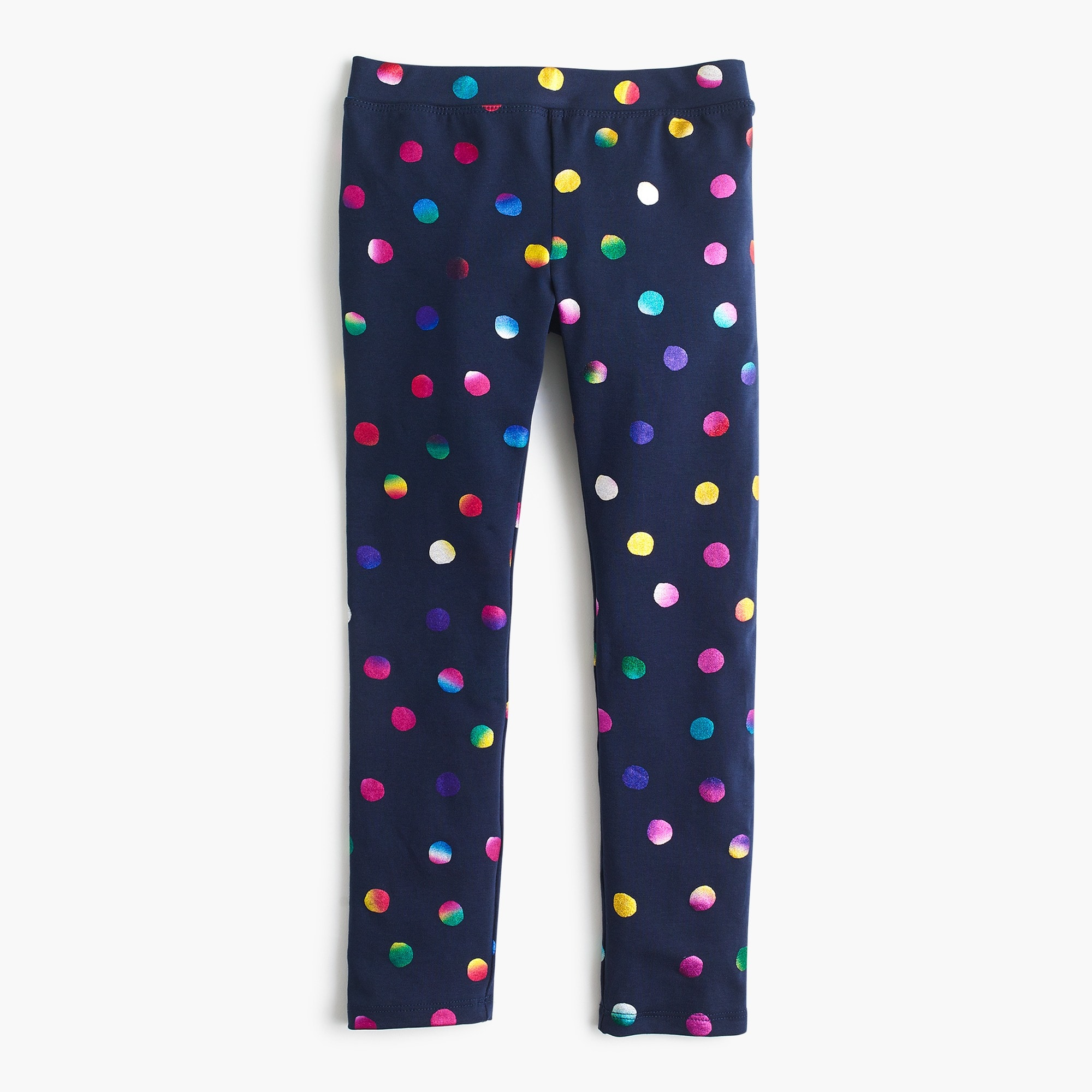 Girls' everyday leggings in iridescent dots girl leggings c