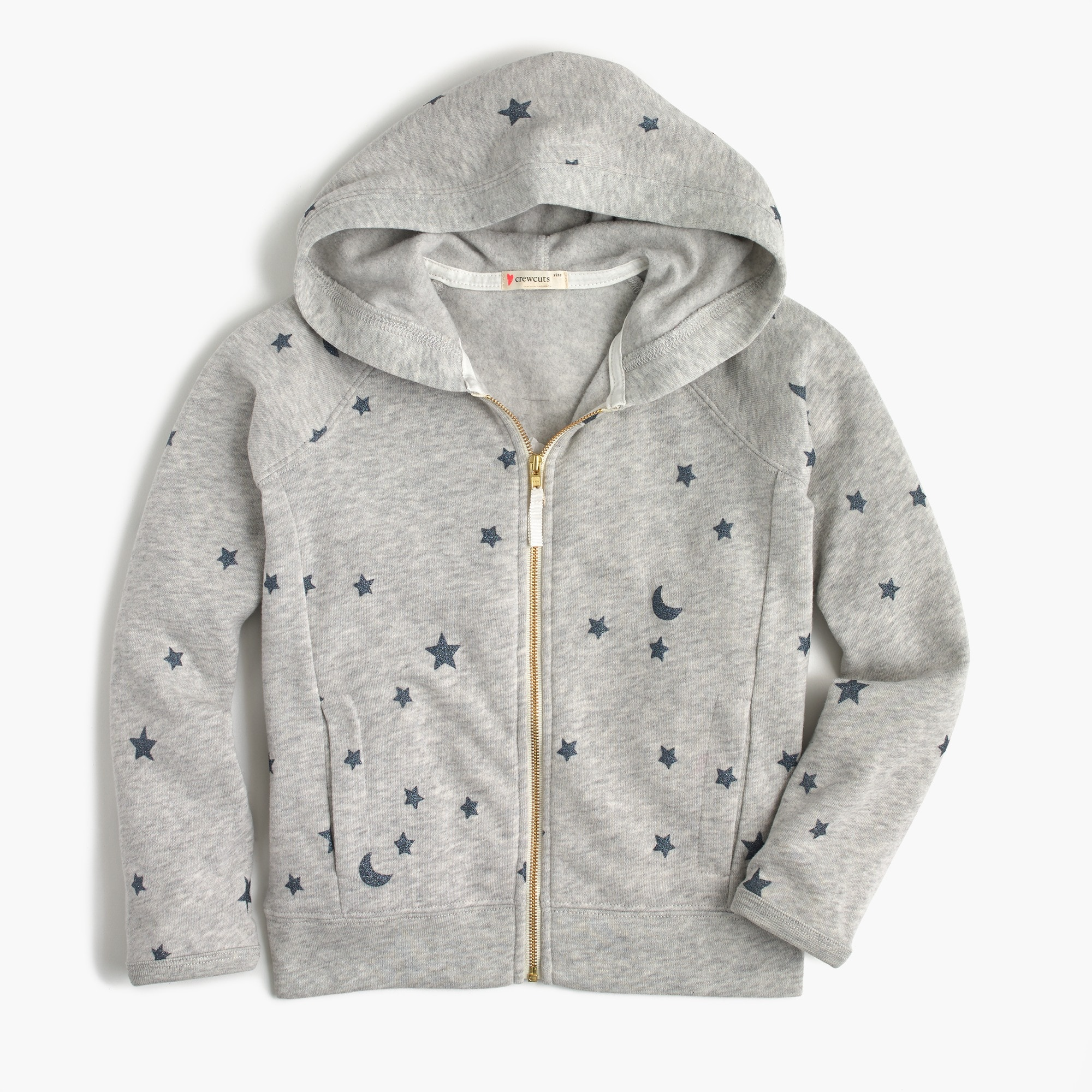 Image 1 for Girls' full-zip hoodie in stars