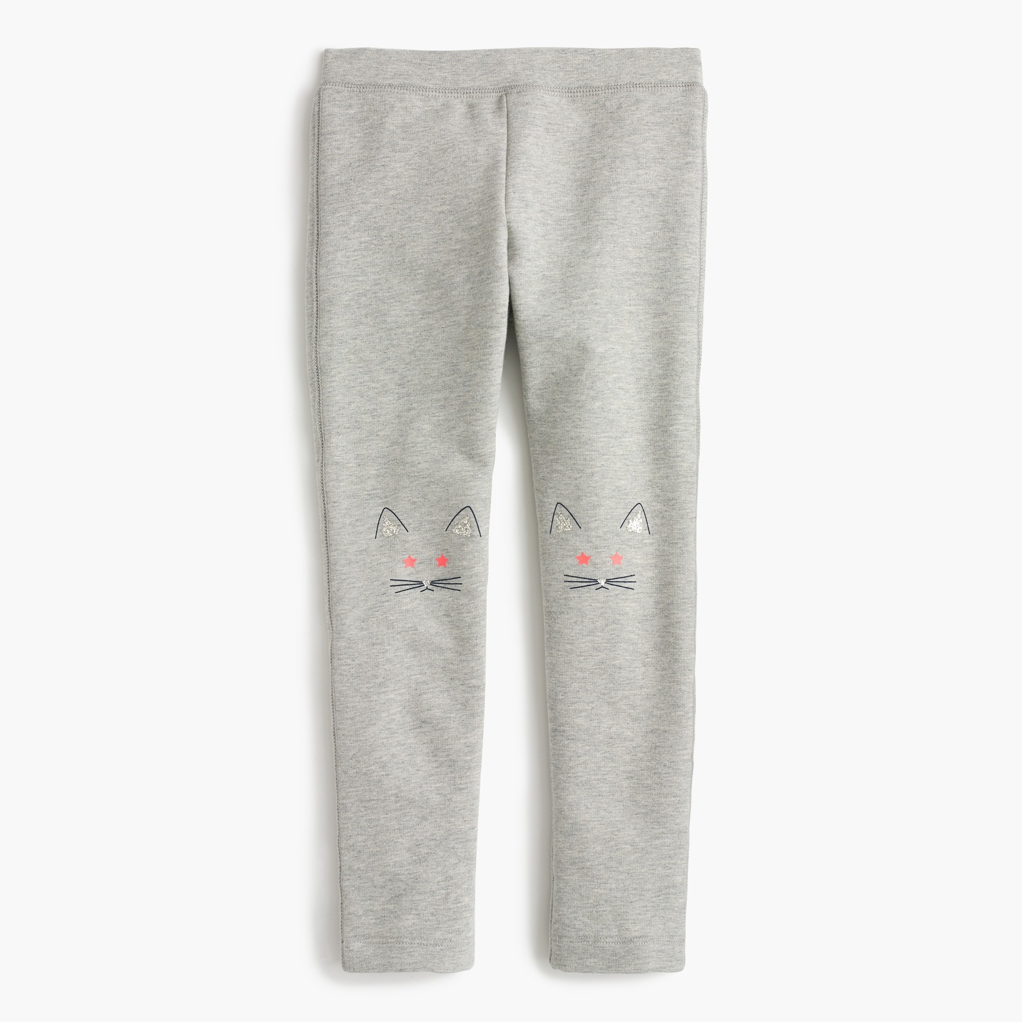 Girls' cozy everyday leggings with kitten knees