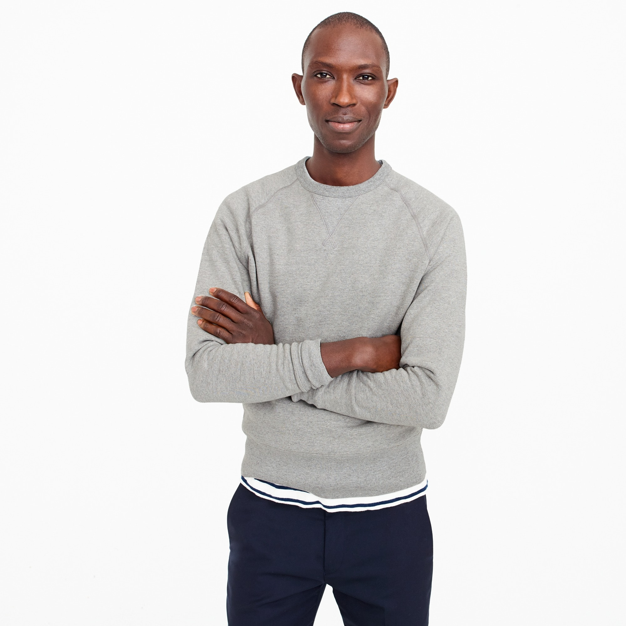 wallace & barnes crewneck sweatshirt : men wallace & barnes