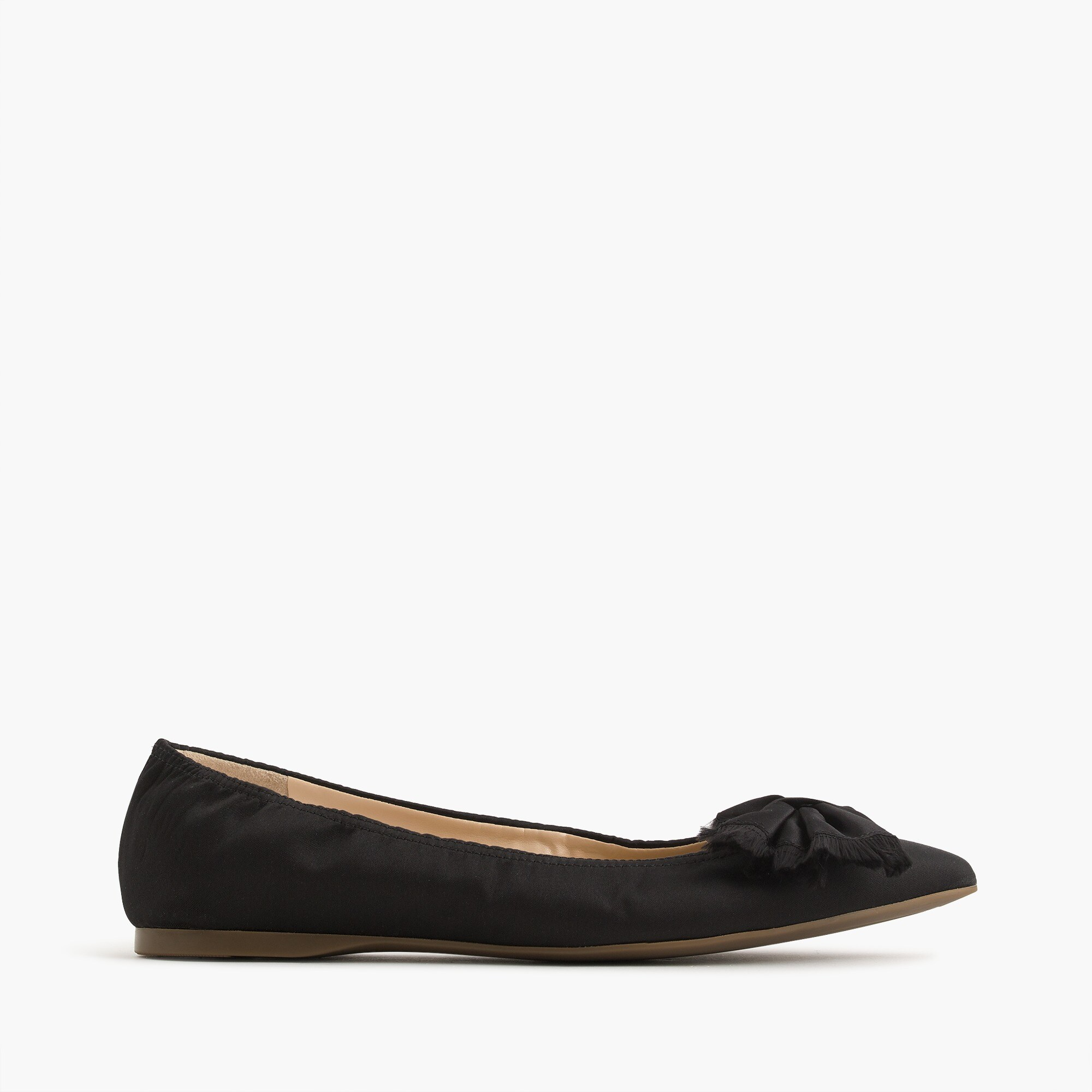 lottie flats in satin : women flats