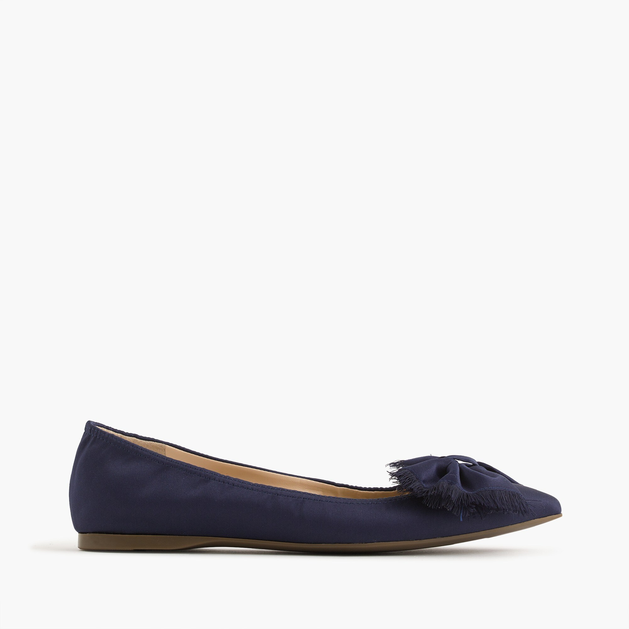 Lottie flats in satin