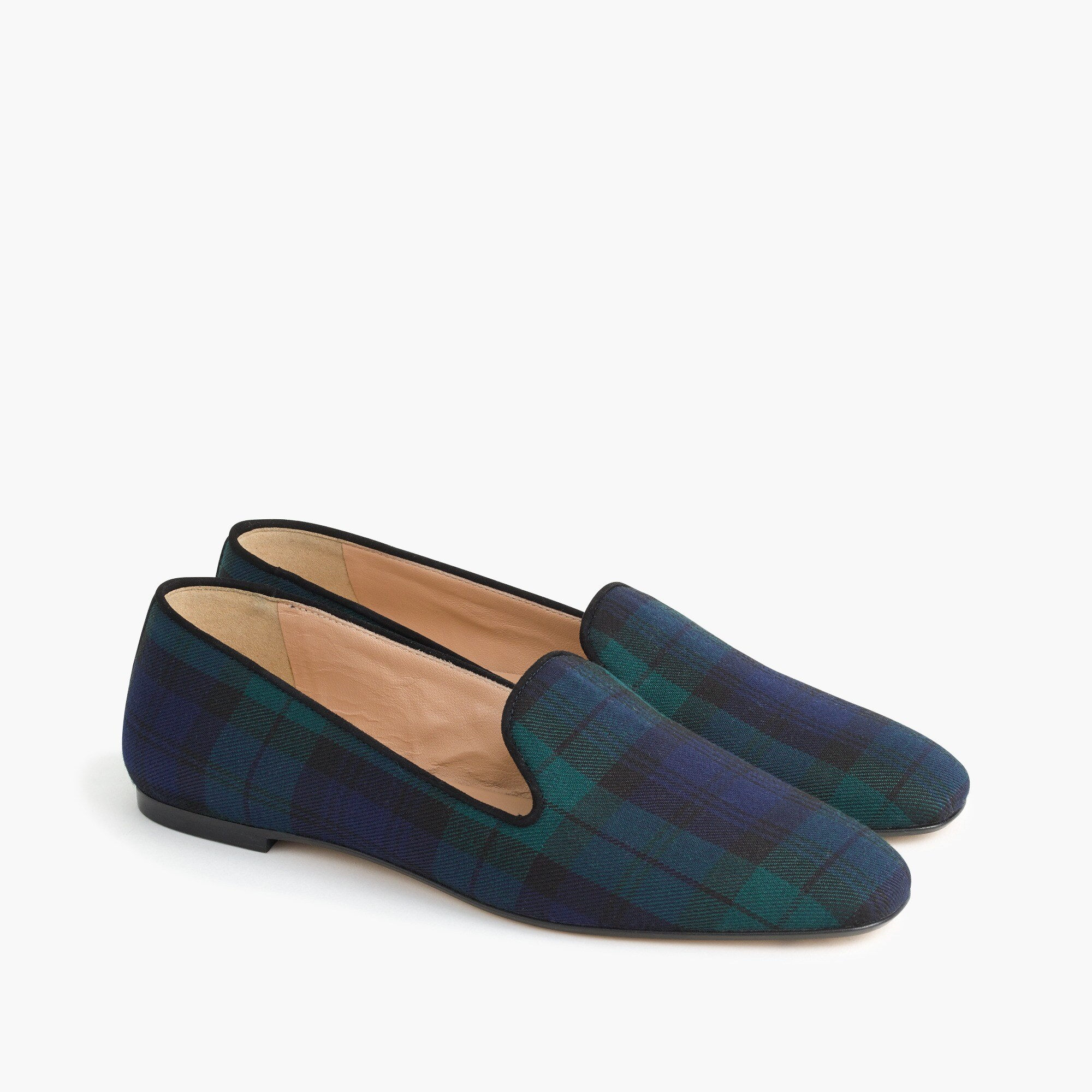 Black Watch tartan loafers