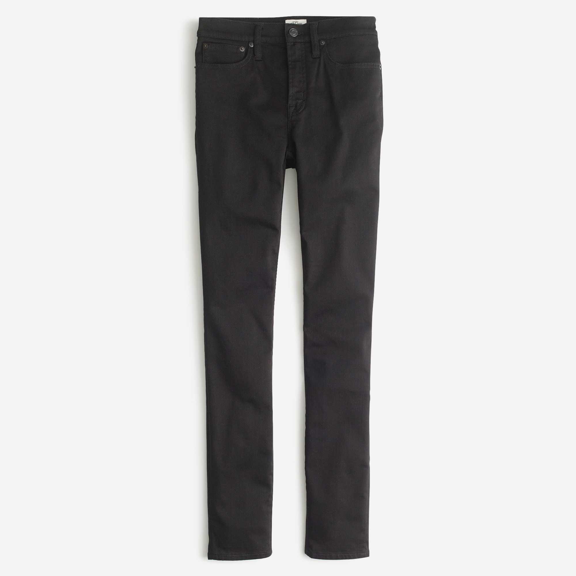 "Petite 9"" high-rise stretchy toothpick jean in new black"