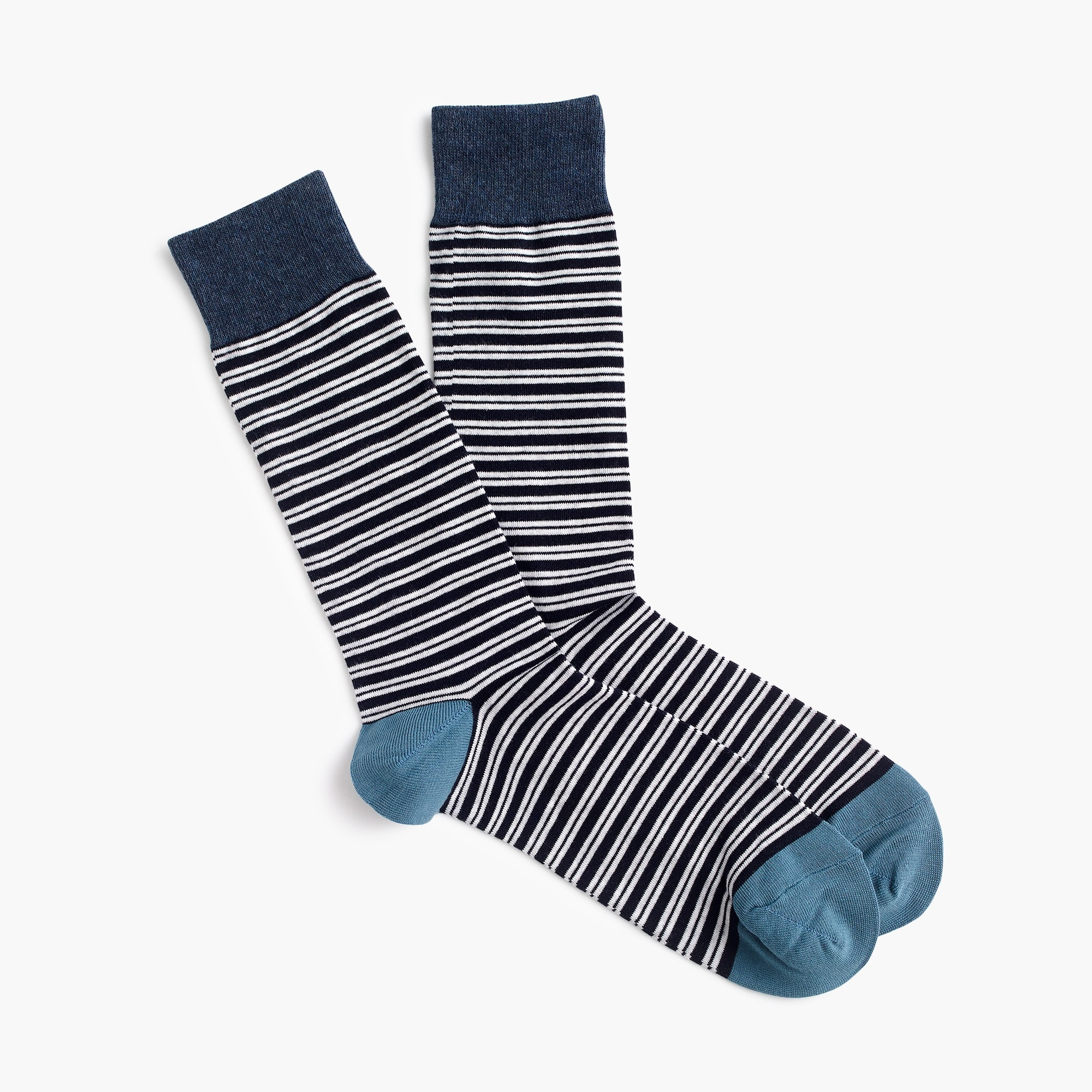 Navy striped socks men socks c