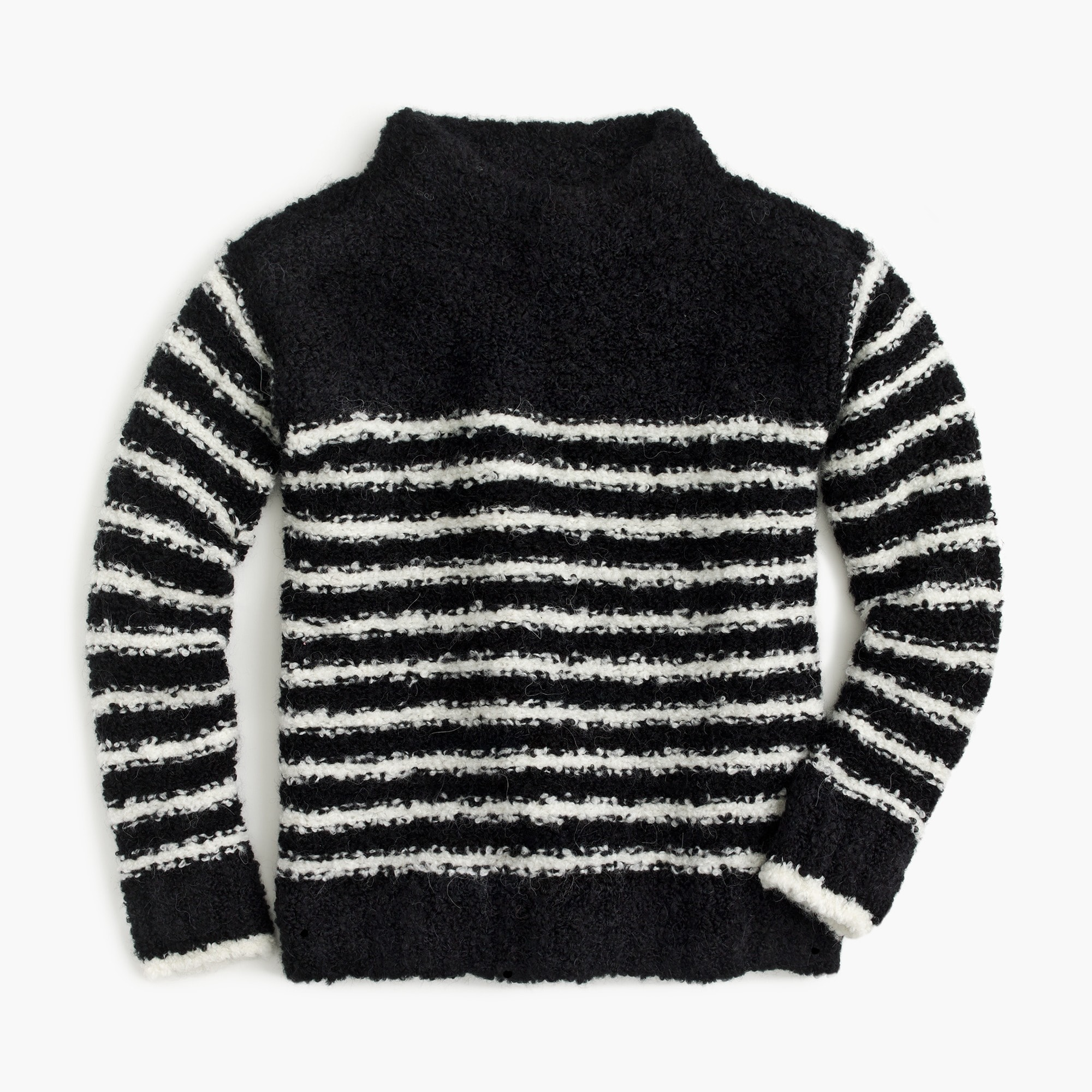 girls' striped mock-neck sweater - girls' sweaters