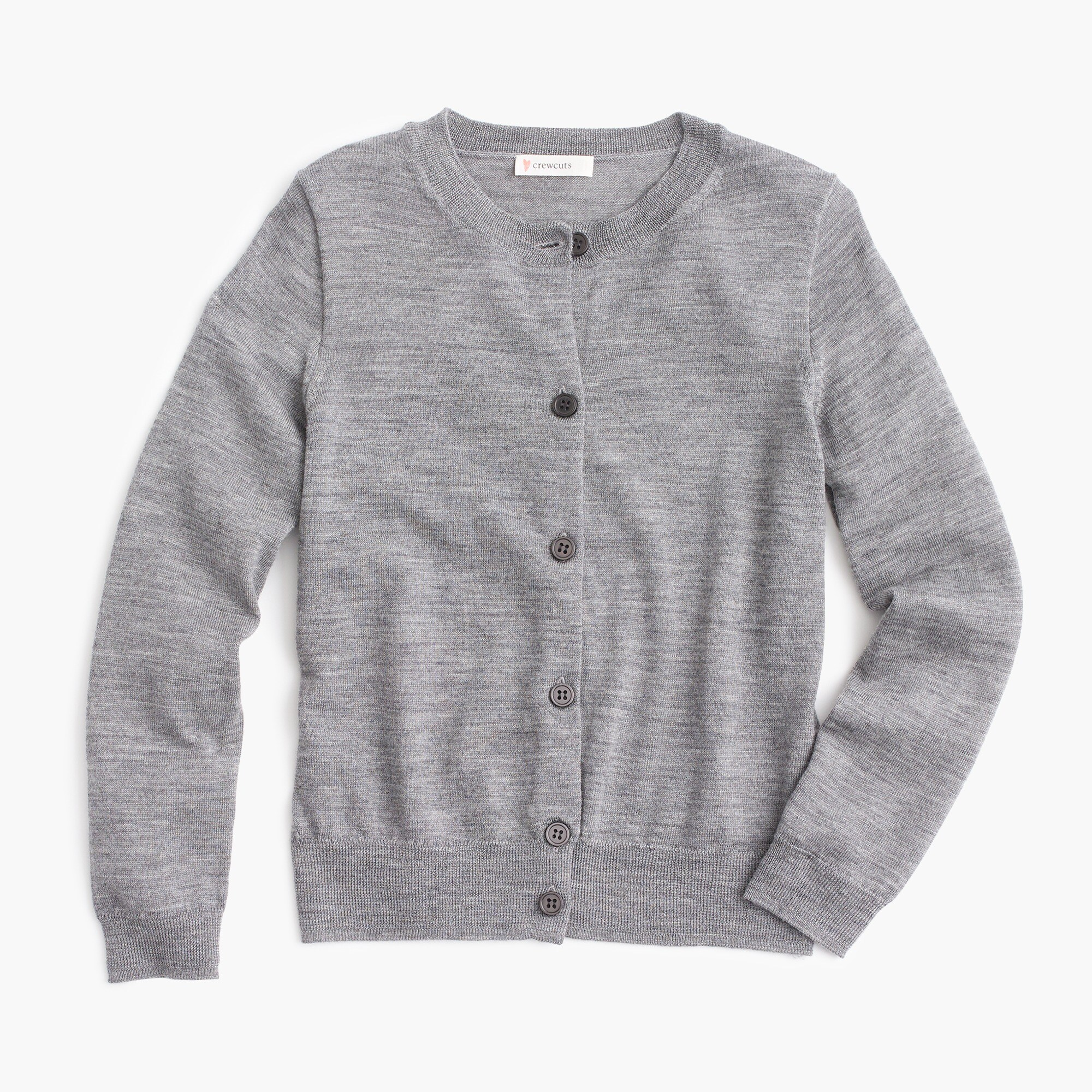 Girls' classic cardigan sweater