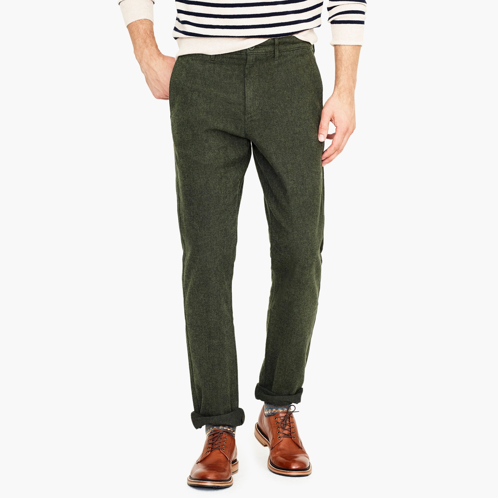 mens 770 Straight-fit pant in stretch brushed twill