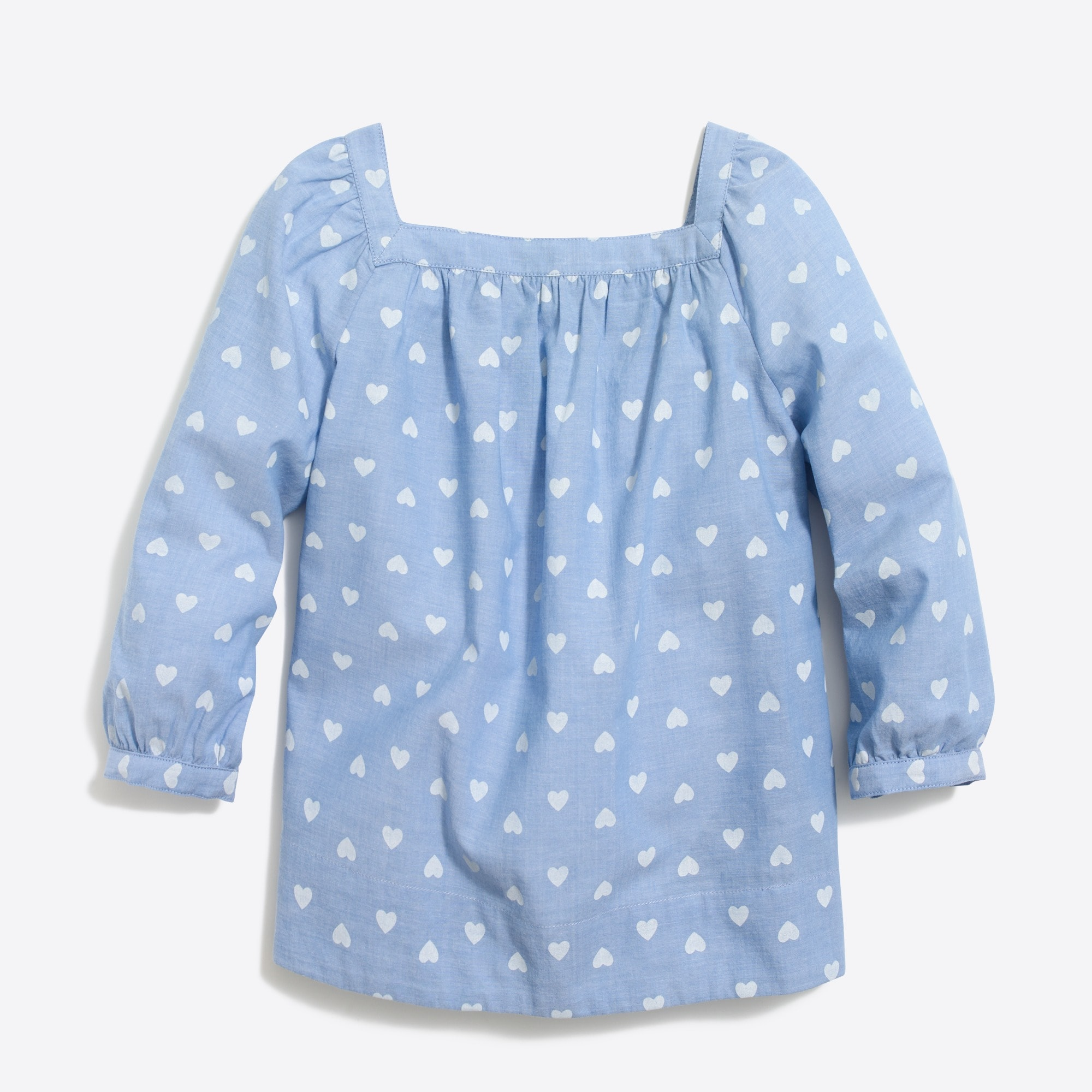 Image 2 for Girls' heart-print peasant top