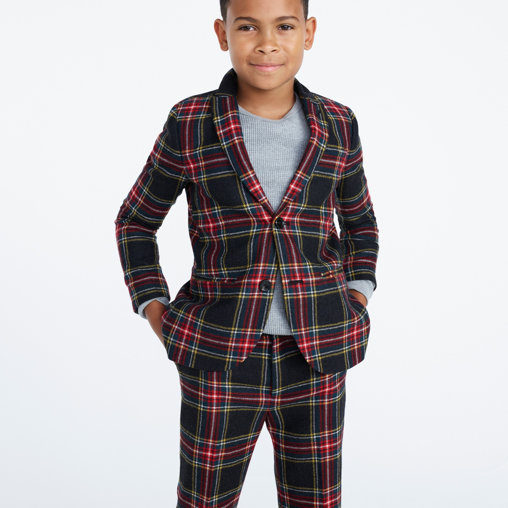 Image 2 for Boys' Ludlow suit jacket in Stewart plaid