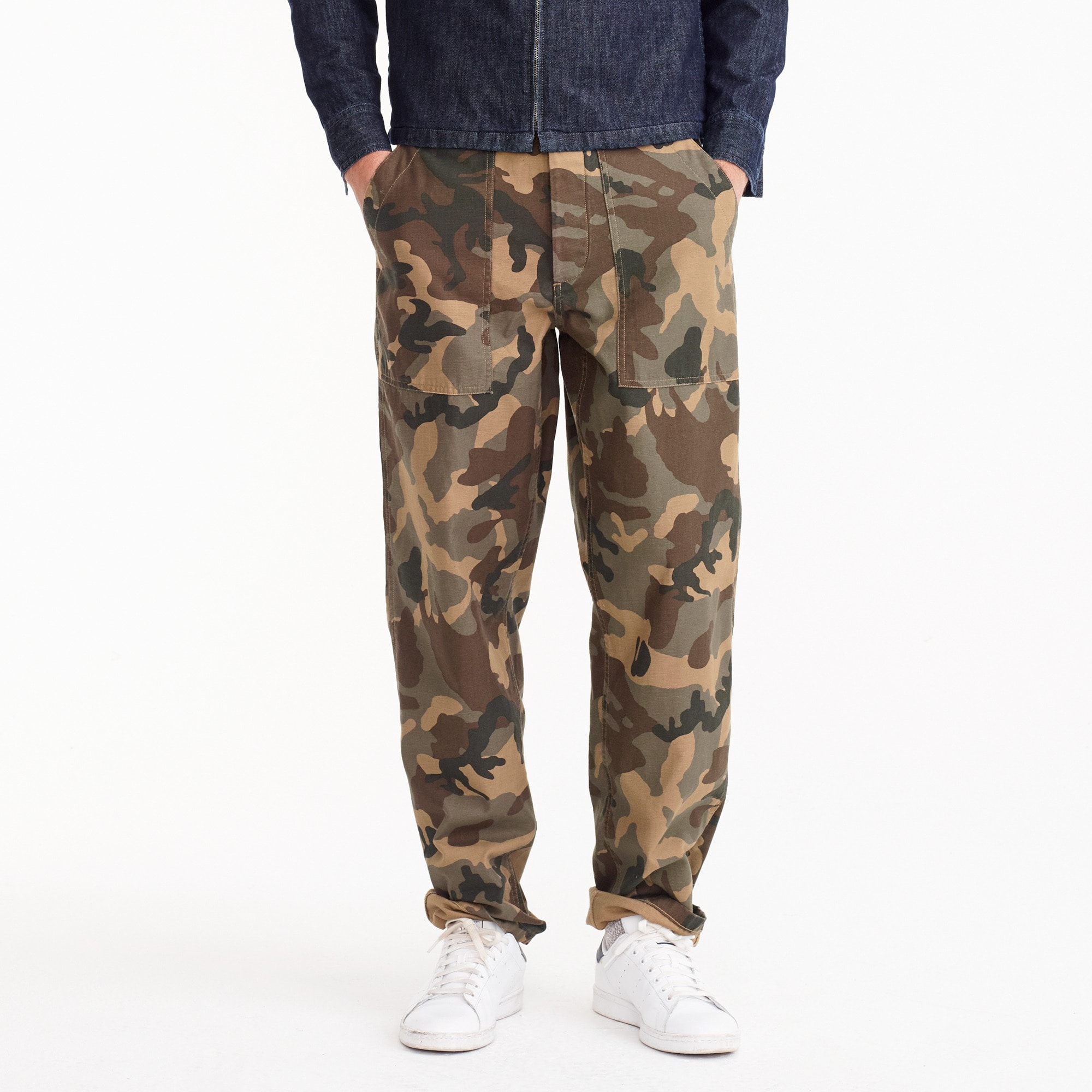 military pant in cotton twill : men wallace & barnes