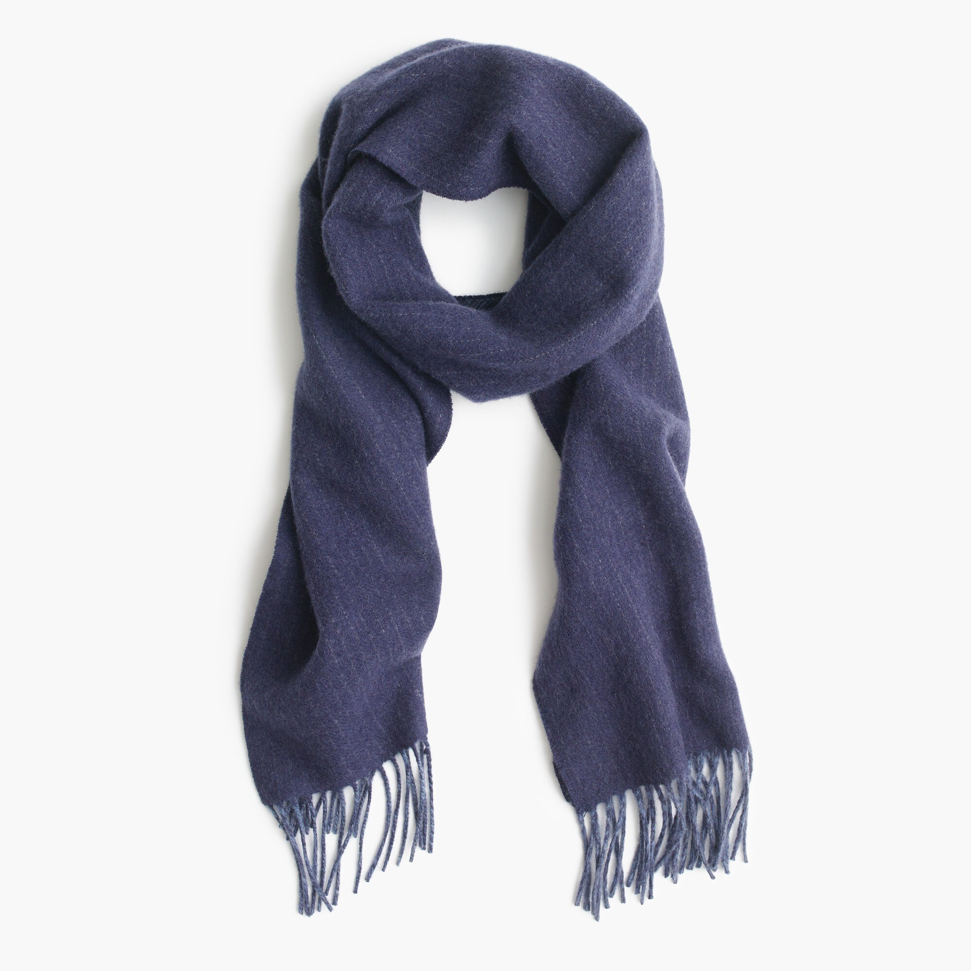 Dual-patterned cashmere scarf