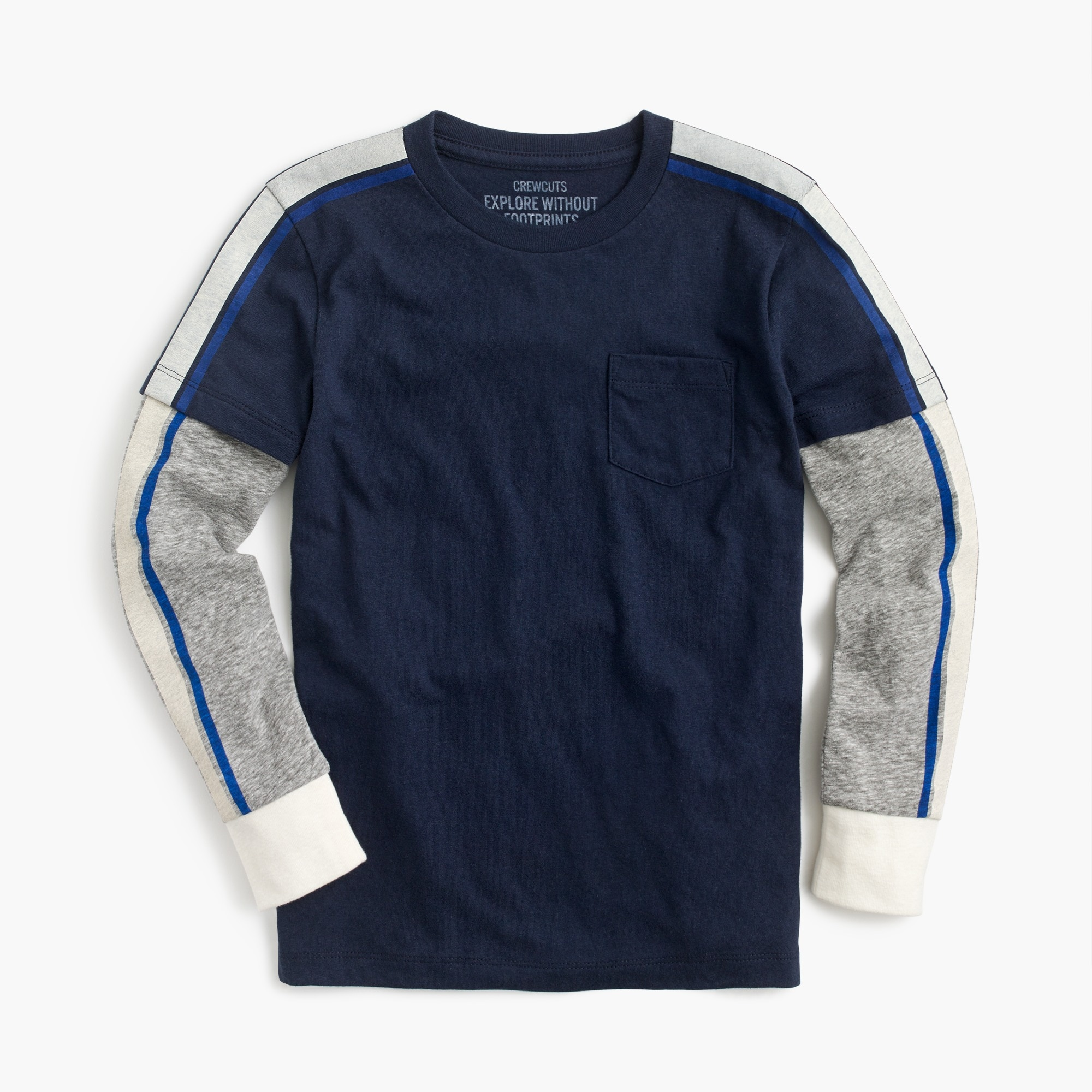 "Boys' ""layered"" long-sleeve T-shirt boy t-shirts & polos c"