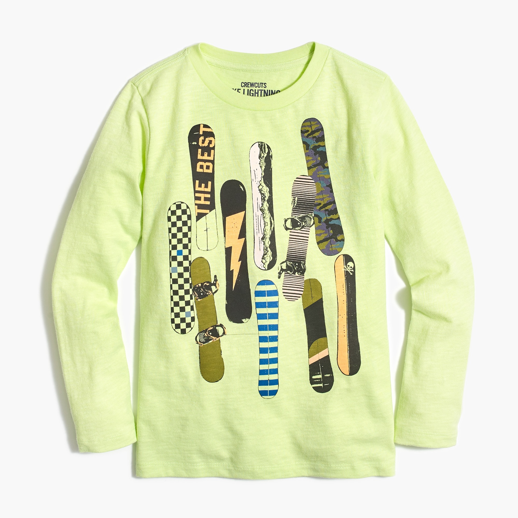 Boys' long-sleeve snowboard T-shirt