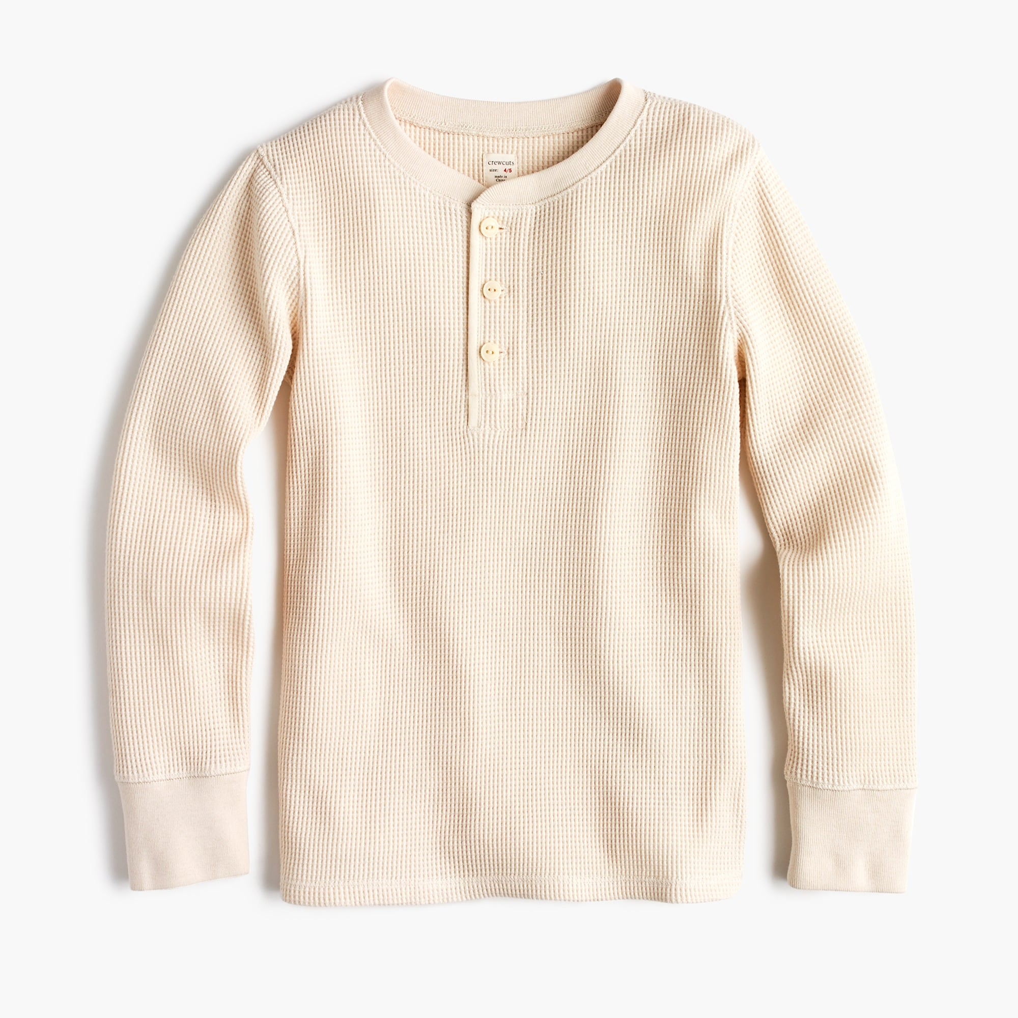 Image 1 for Boys' long-sleeve waffle knit henley shirt