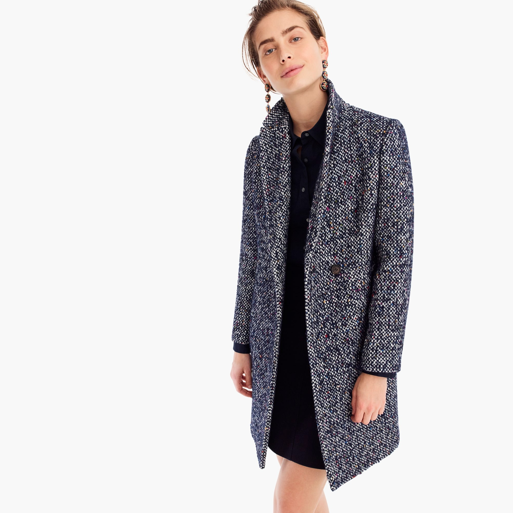 womens Daphne topcoat in Italian tweed