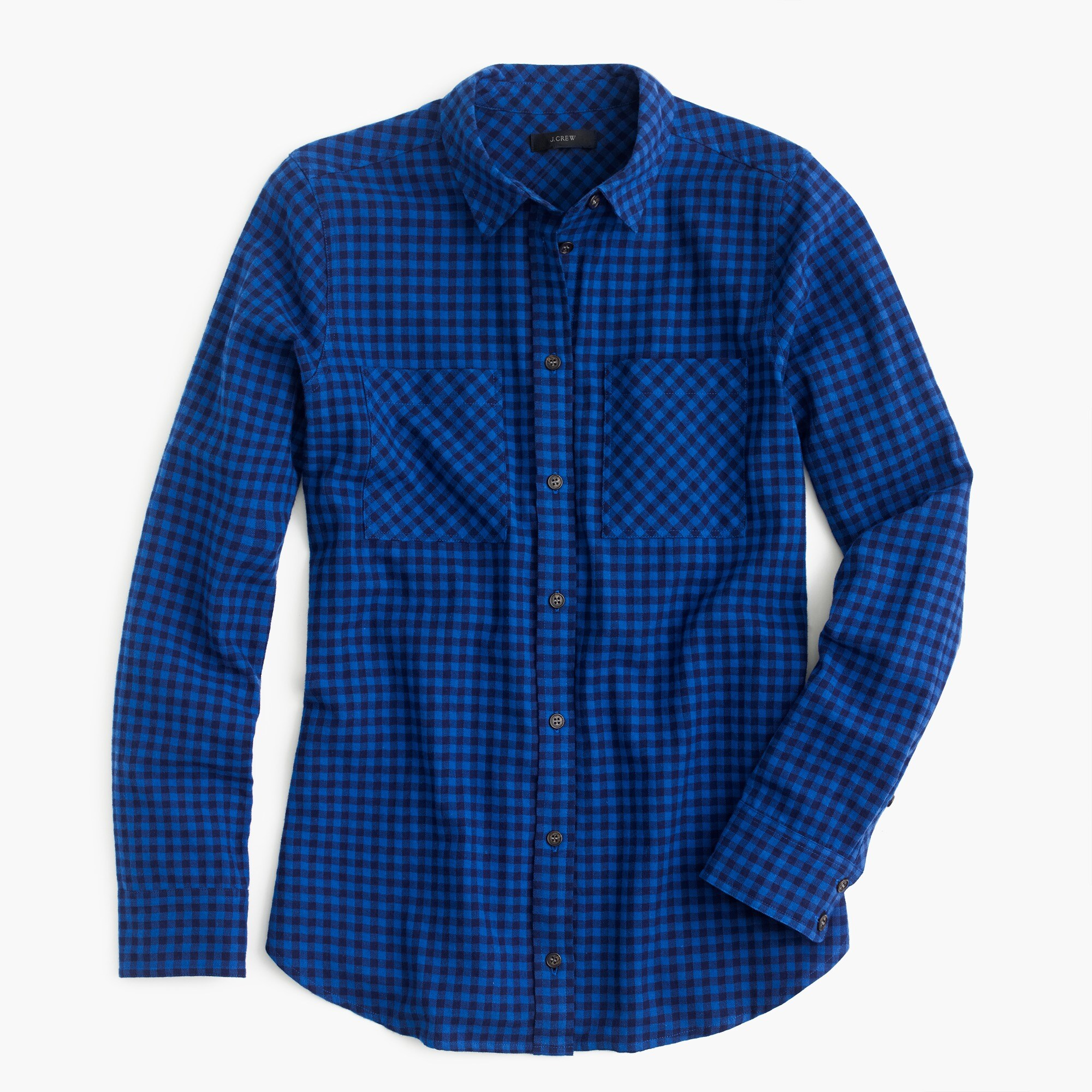 Tall boy shirt in mini buffalo check