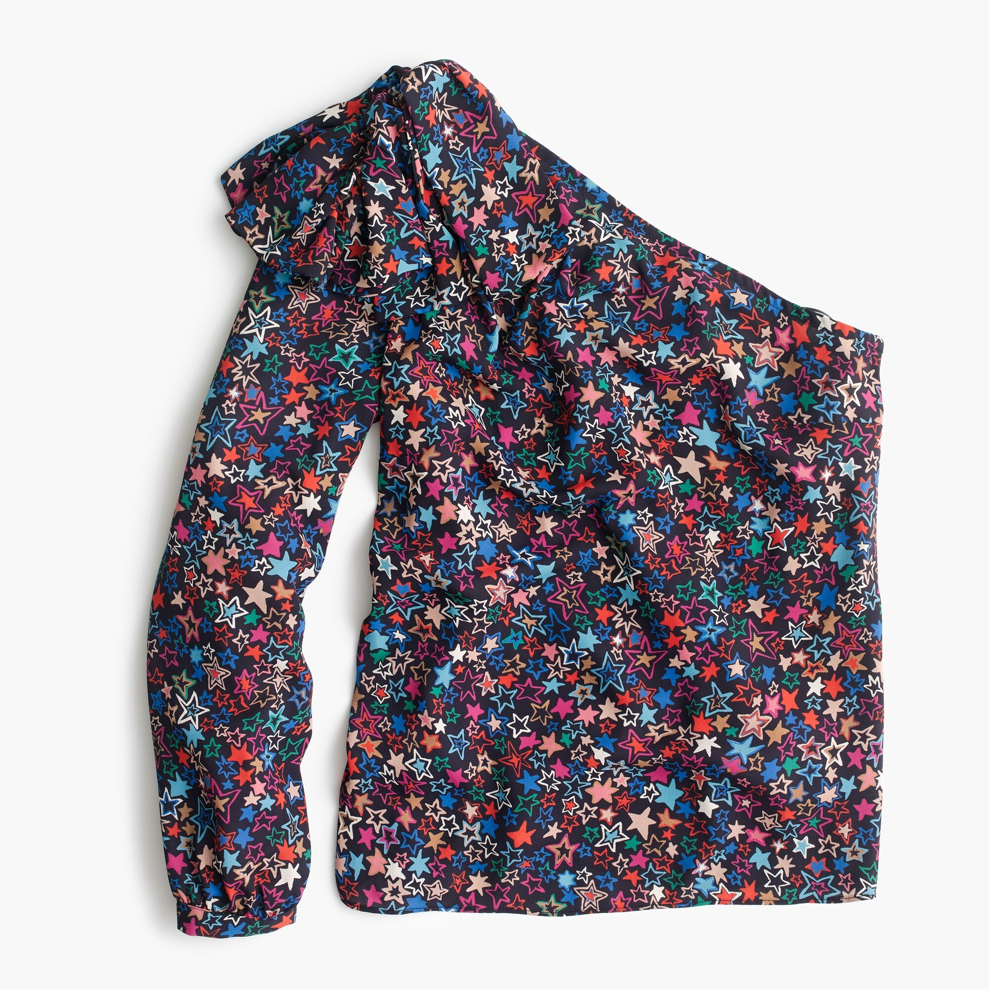 Image 3 for Petite one-shoulder top in kaleidoscope star print