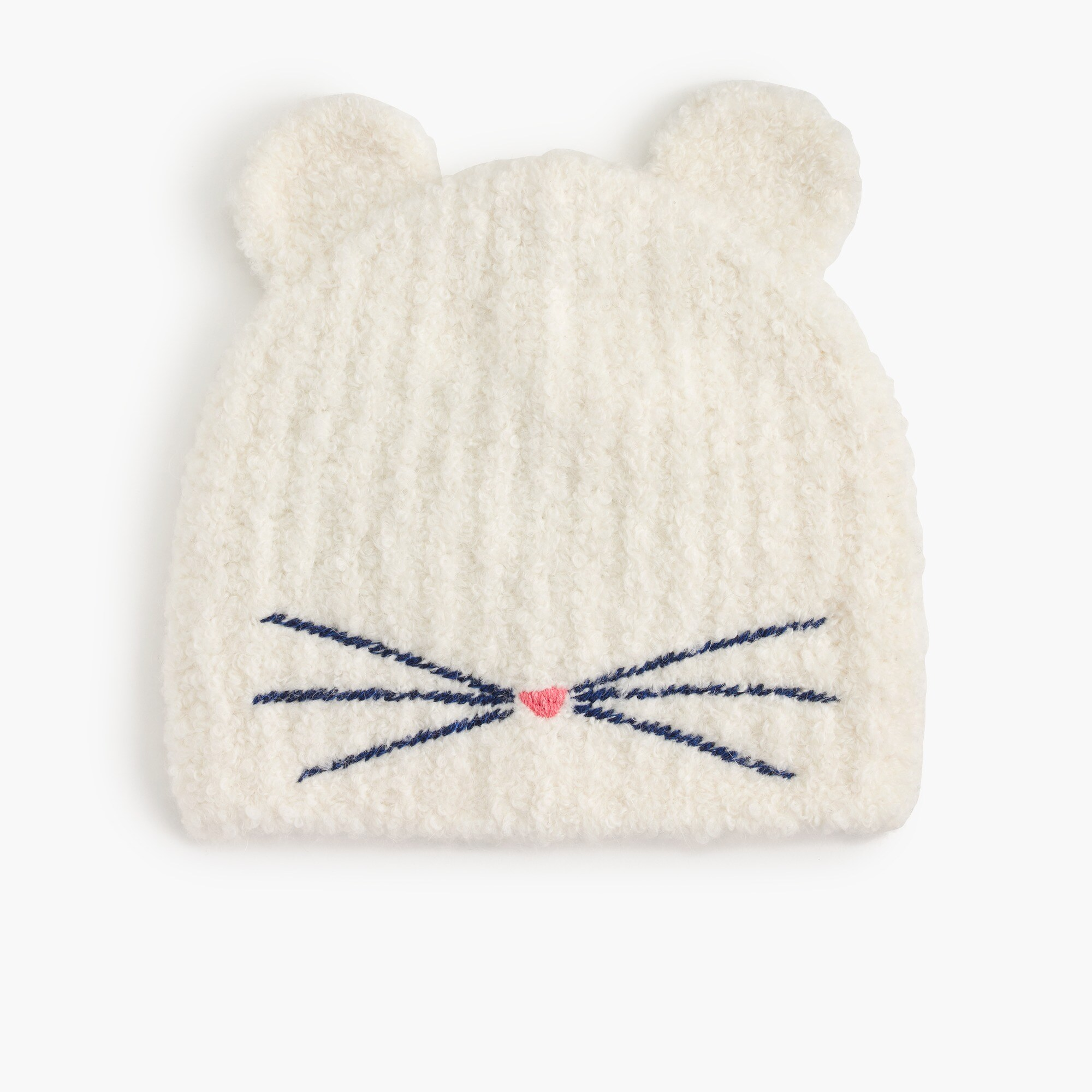 Girls' kitty beanie