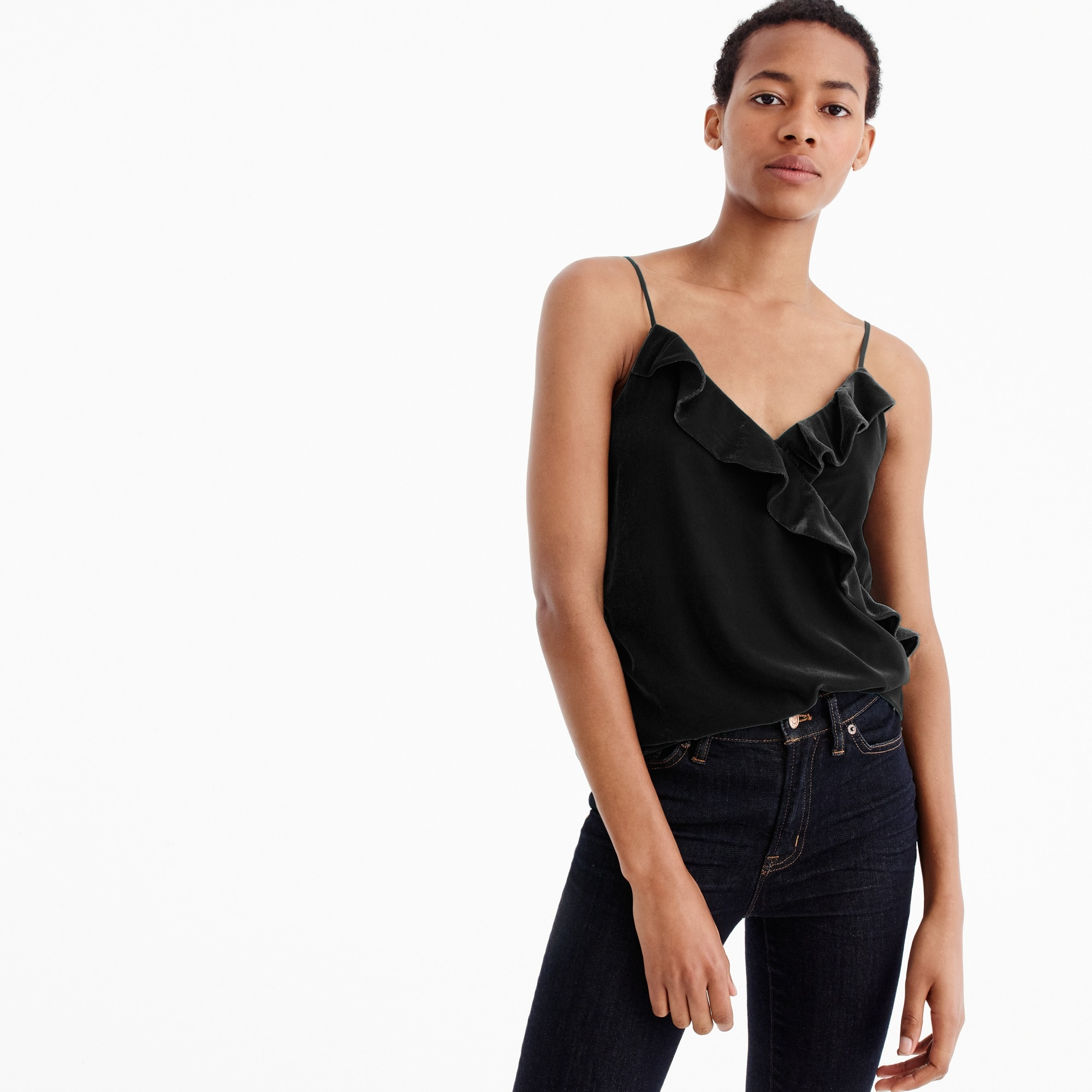 Tall velvet going-out top