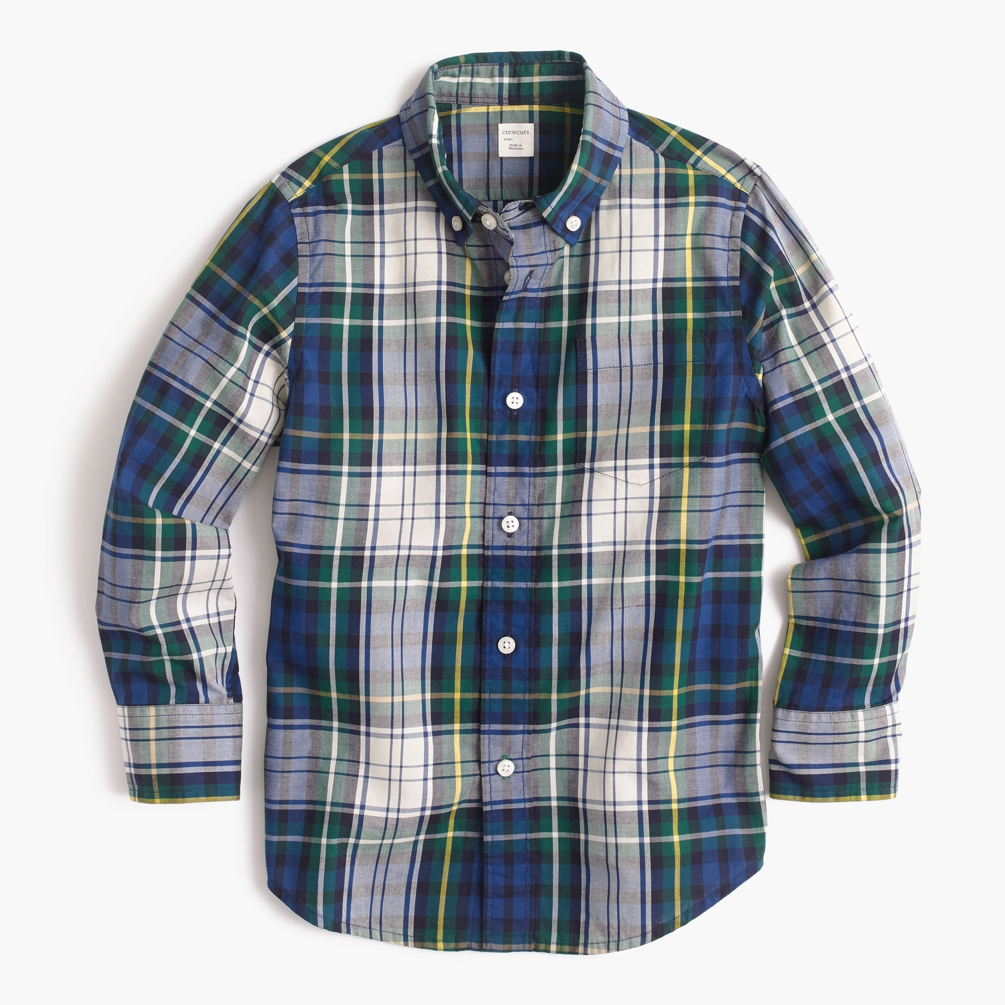 kids' secret wash shirt in tartan - boys' tops