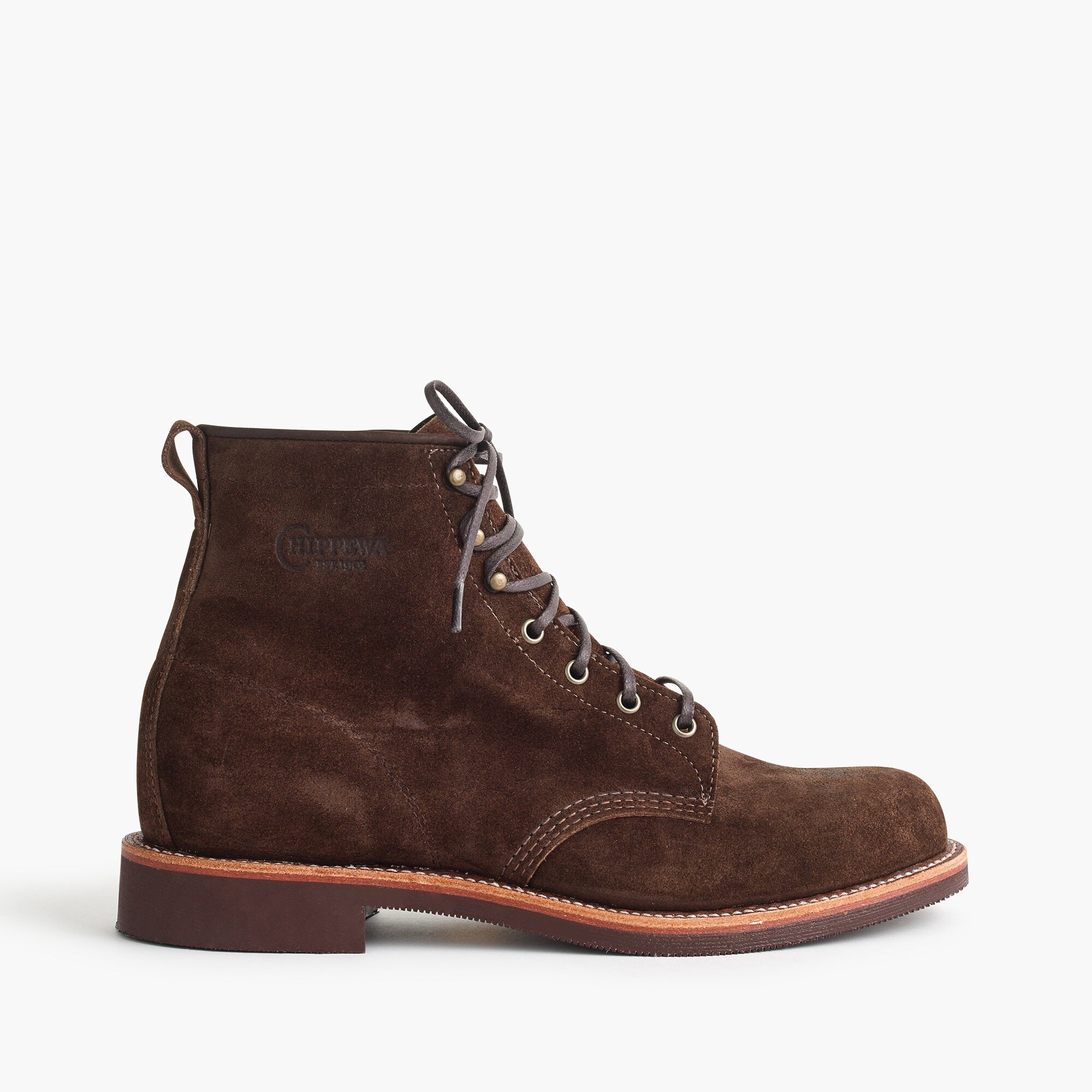 Original Chippewa® for J.Crew rough-out leather boots in chestnut men j.crew in good company c