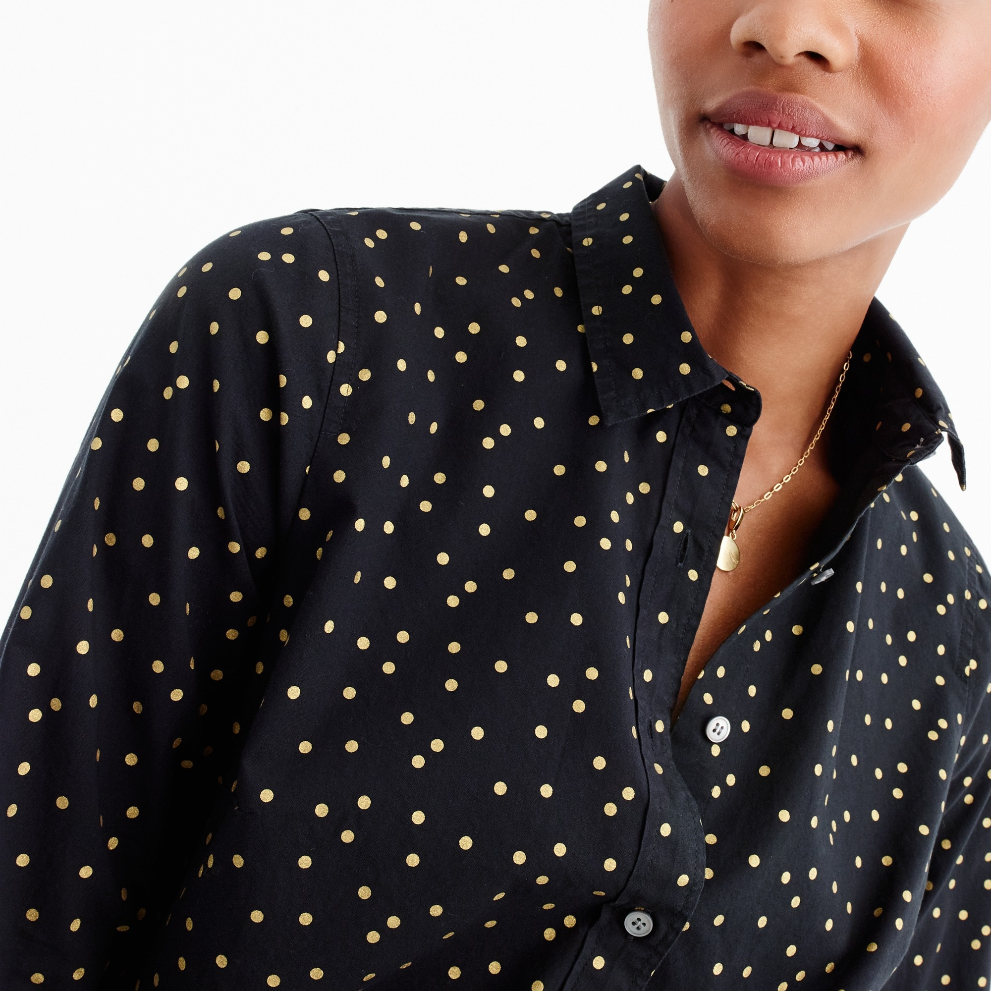 Perfect shirt in heather flannel foil dot