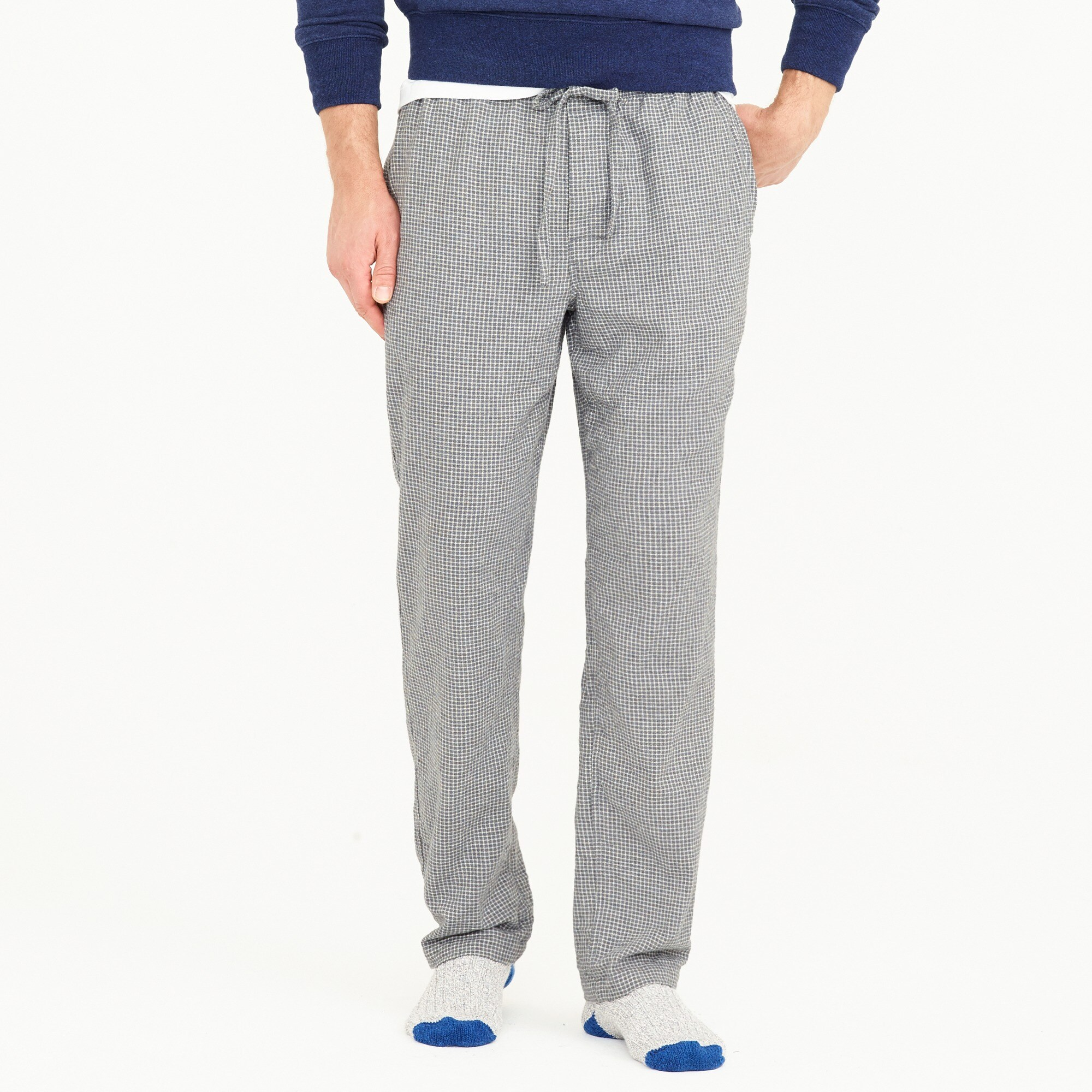 flannel lounge pant in check : men pajamas bottoms