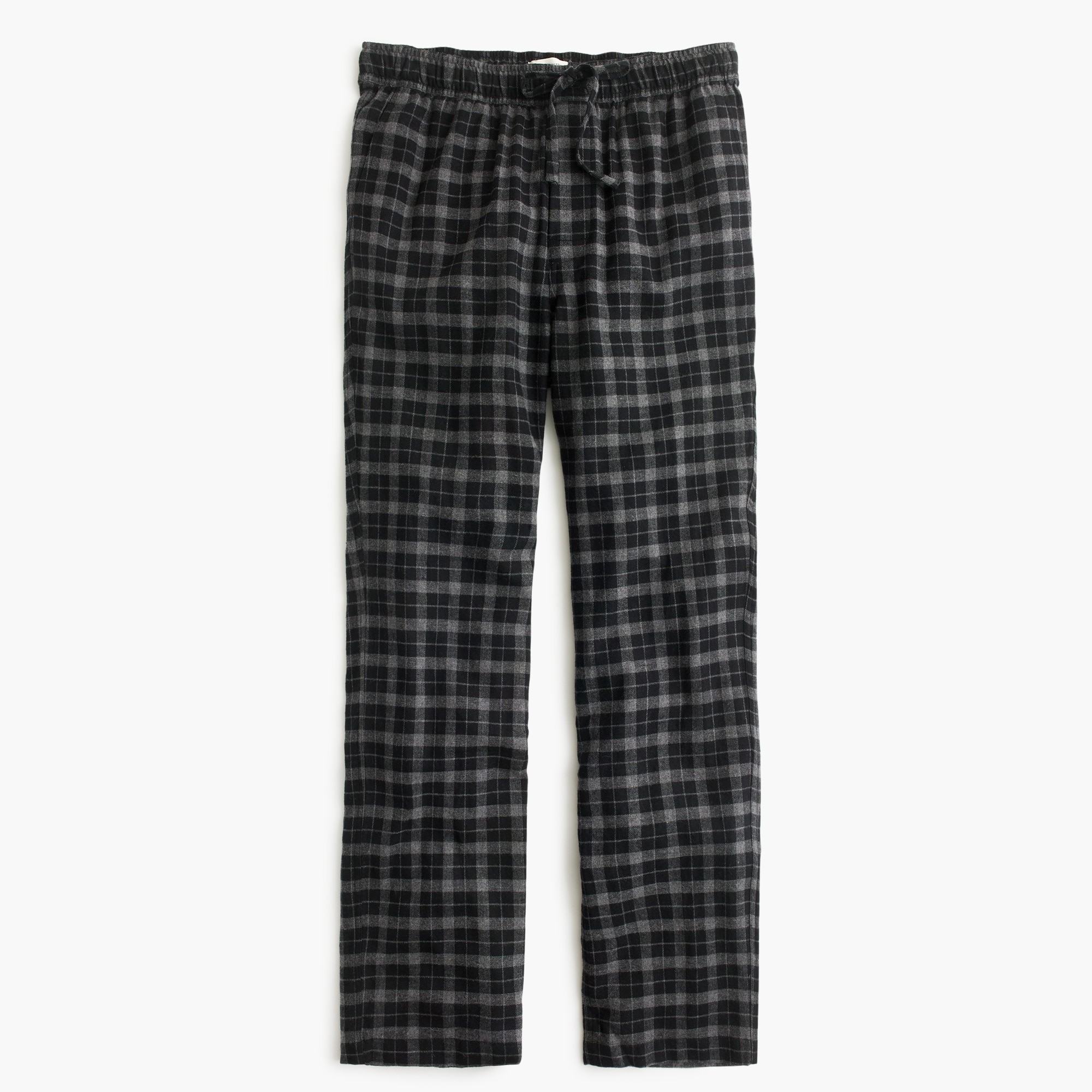 Cotton lounge pant in charcoal plaid