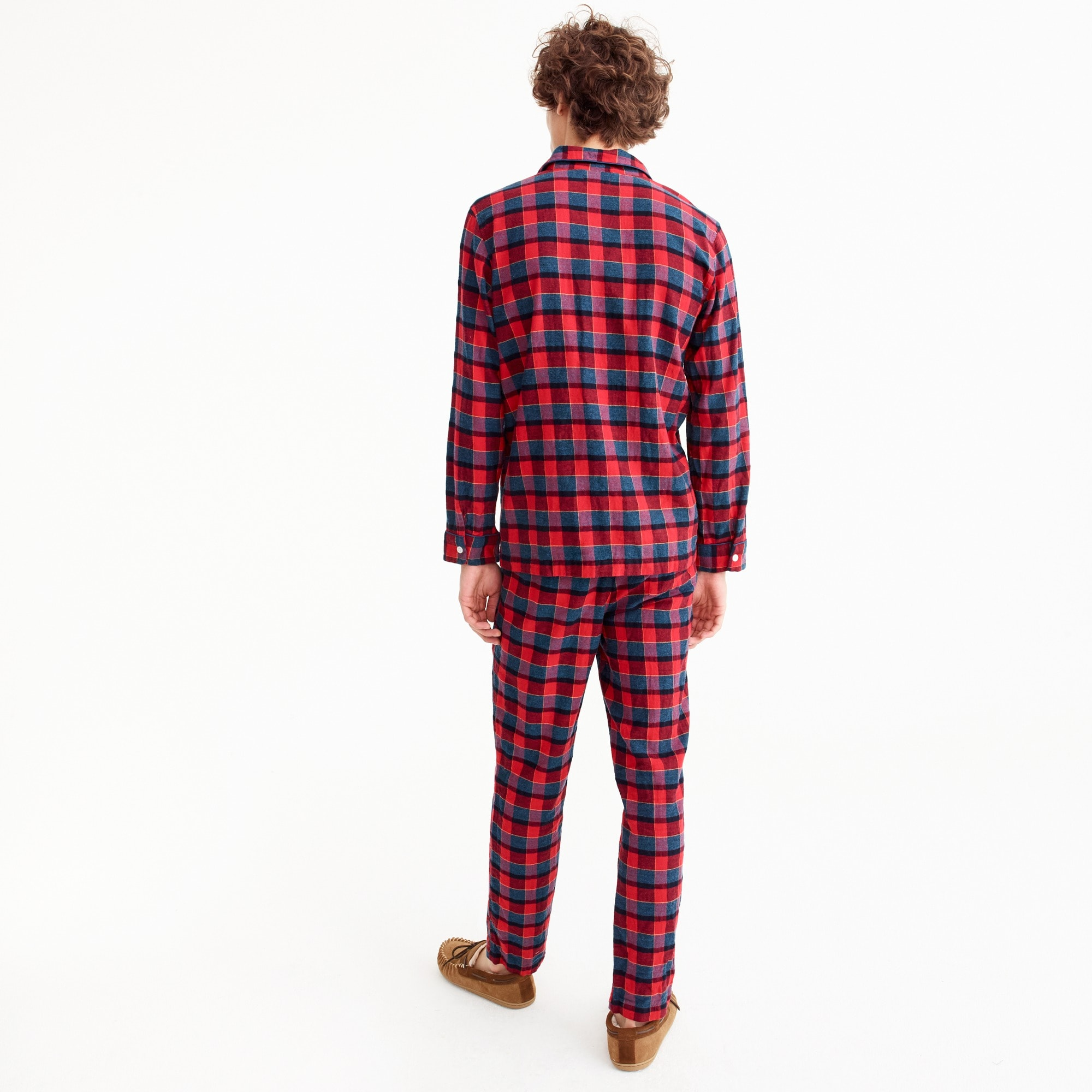 Pajama set in red and blue check