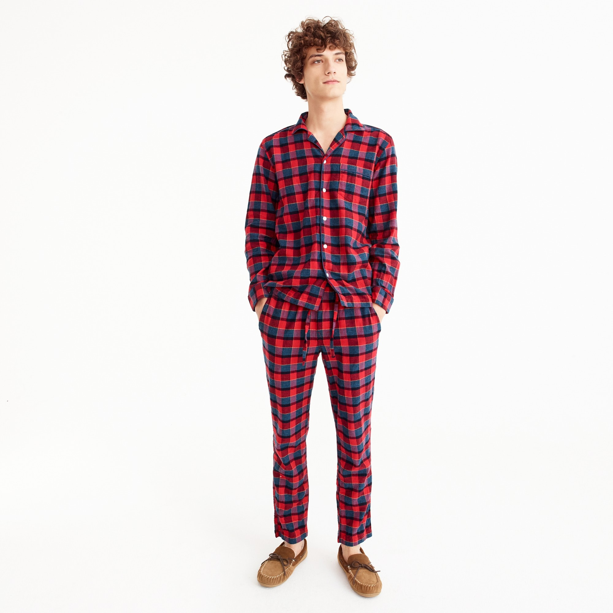 Image 1 for Pajama set in red and blue check