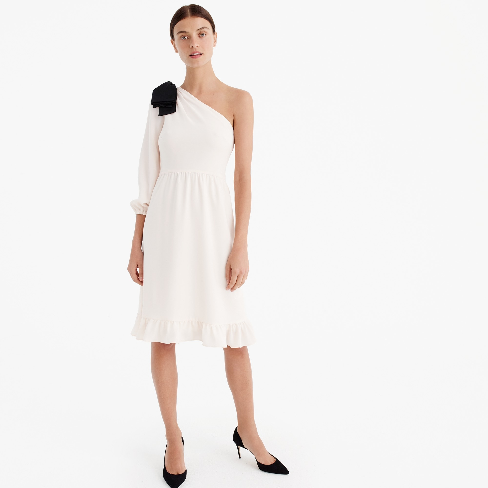 one-shoulder dress with bow : women ready-to-party collection