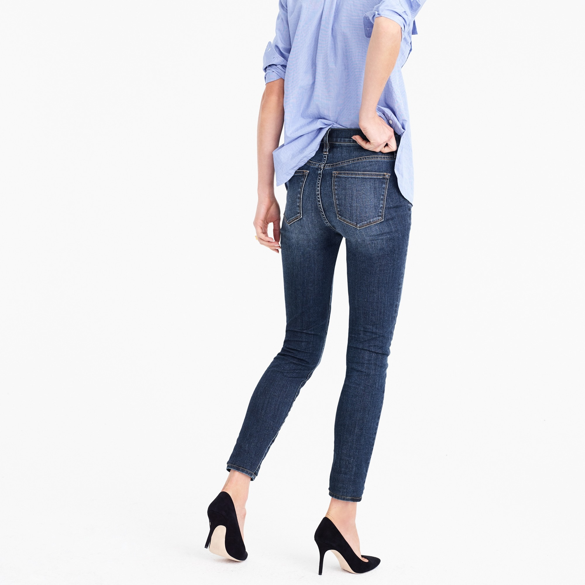"Image 3 for Tall 9"" high-rise toothpick jean in Prescott wash"