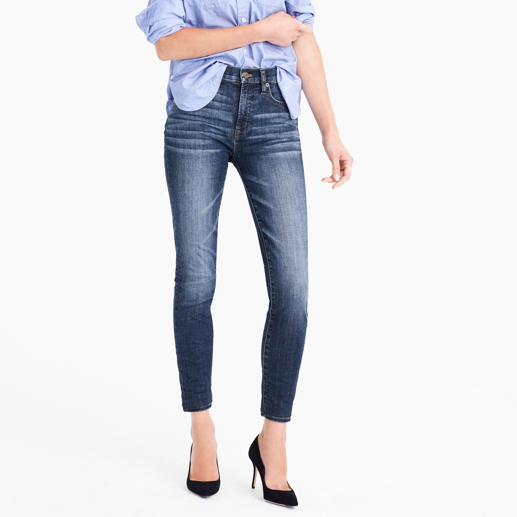 "9"" high-rise toothpick jean in Prescott wash"