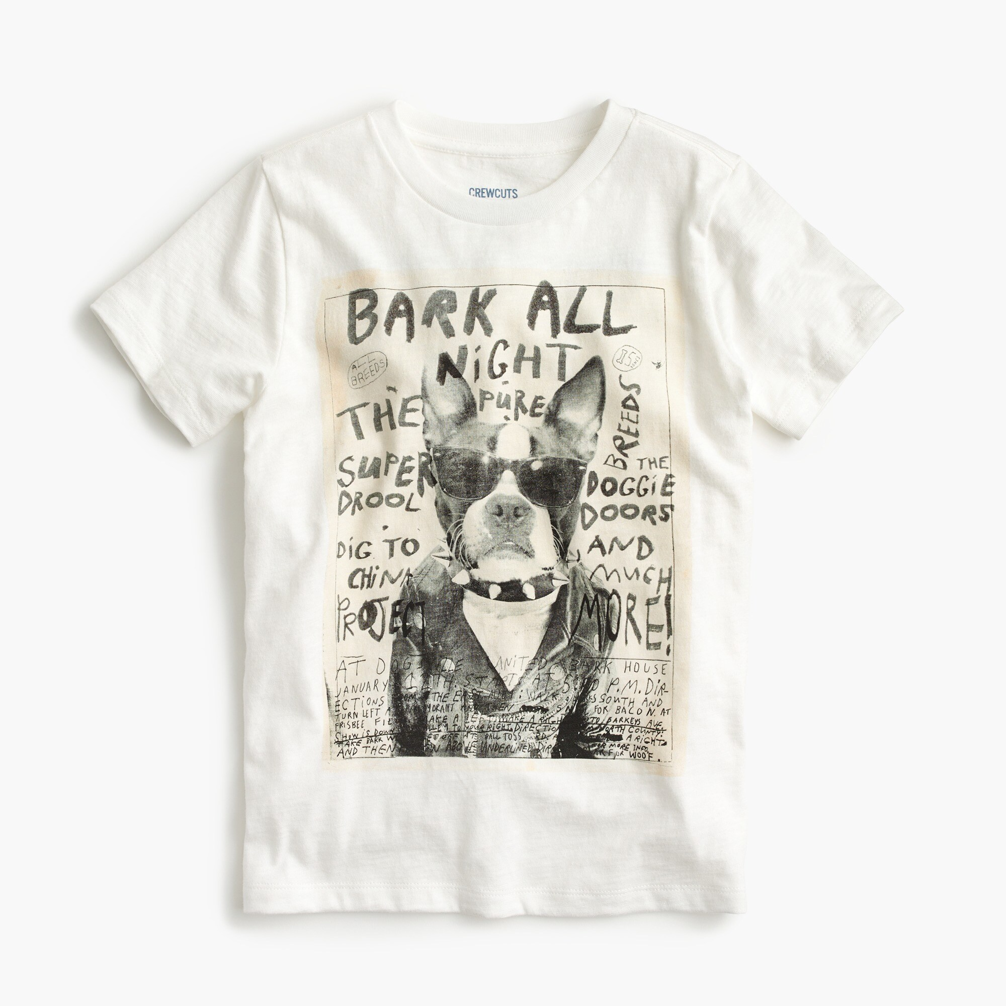 boys' rocker dog t-shirt : boy graphics