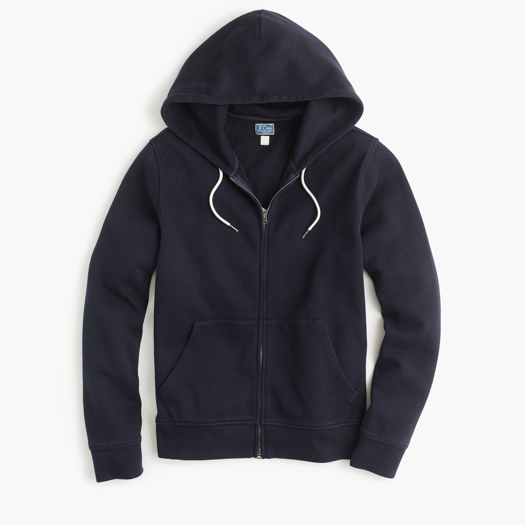 French rib full-zip hoodie